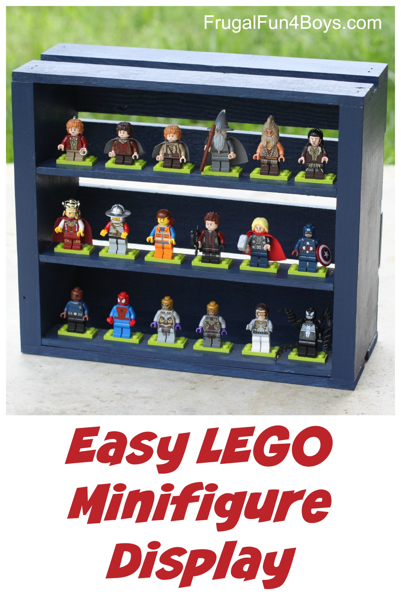 DIY Wooden Crate Minifigure Storage