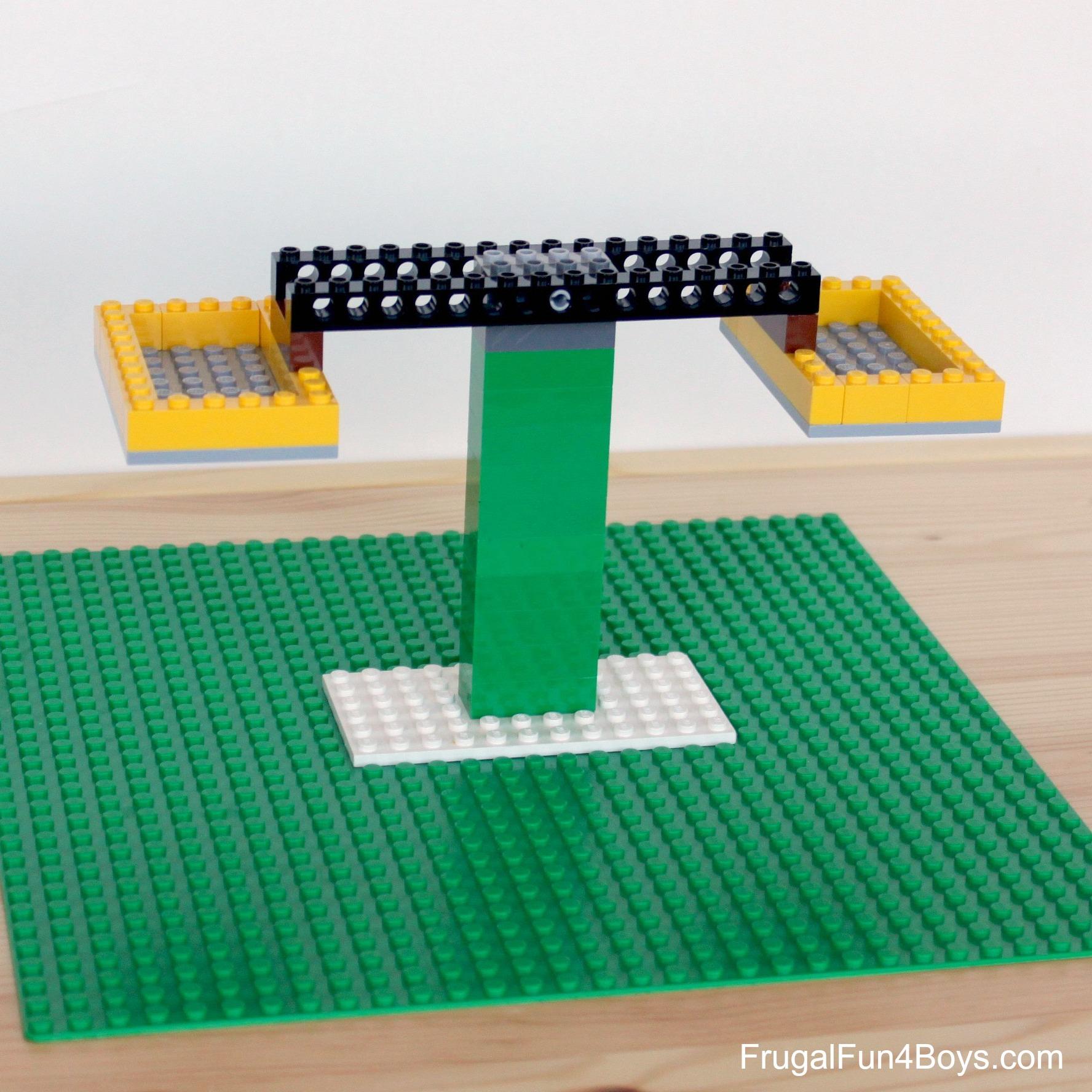 Build a LEGO Balance - Math Activity for Kids