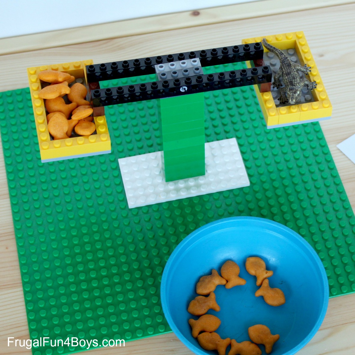 Build a LEGO Balance - Math Activity for Kids
