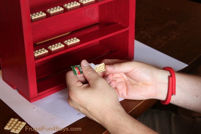 DIY Wooden Crate Minifigure Display