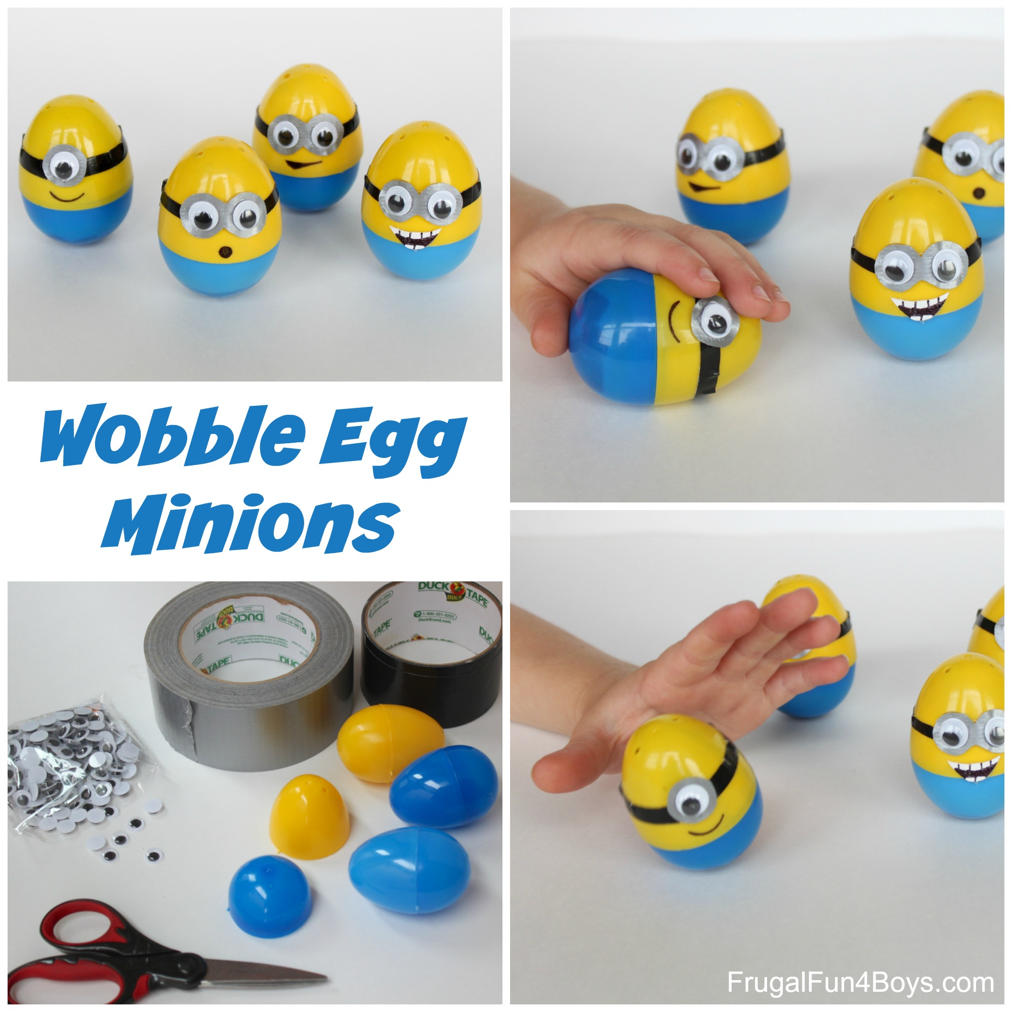 Minion Eggs - Push them down and they pop back up!