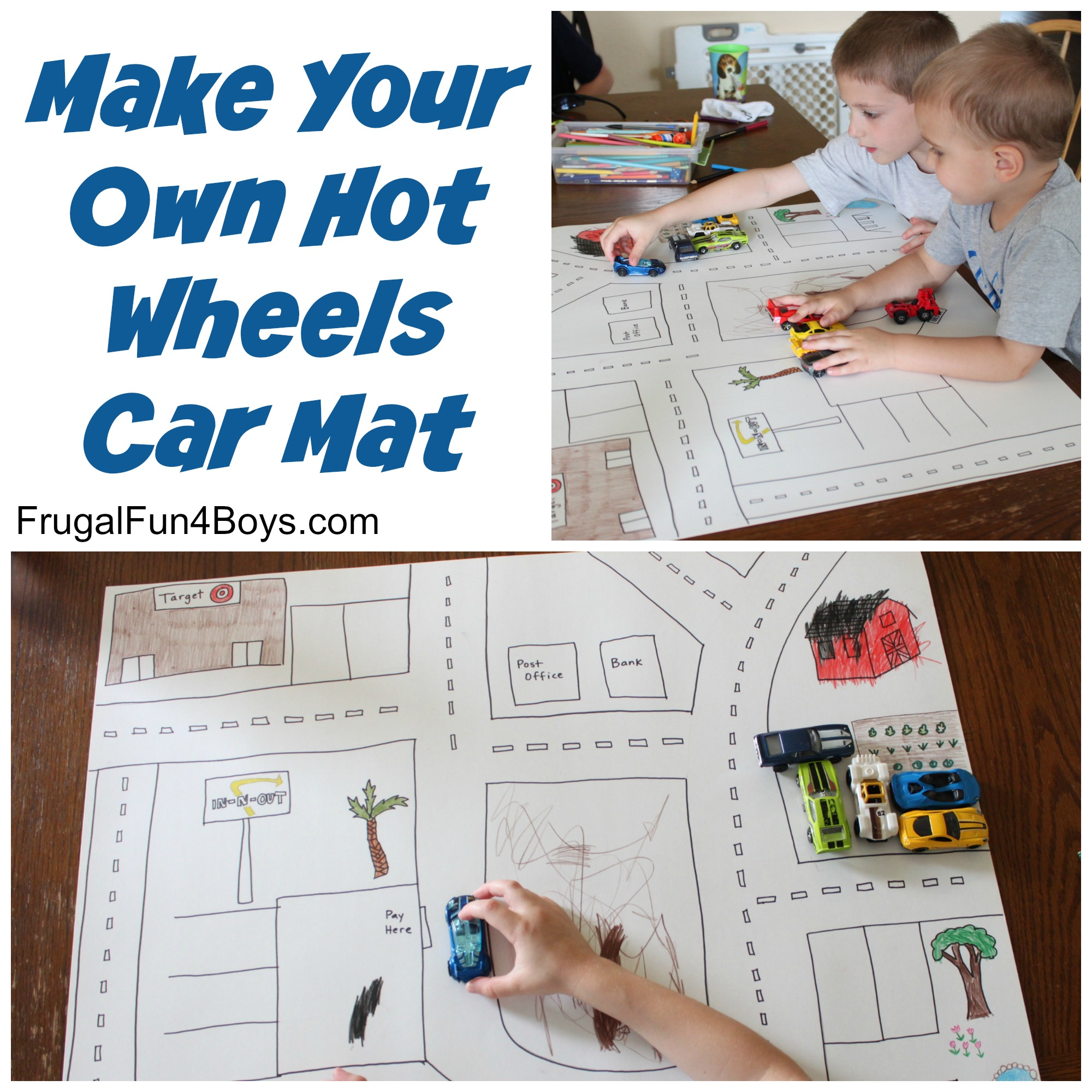 Easy Poster Board Hot Wheels Car Play Mat