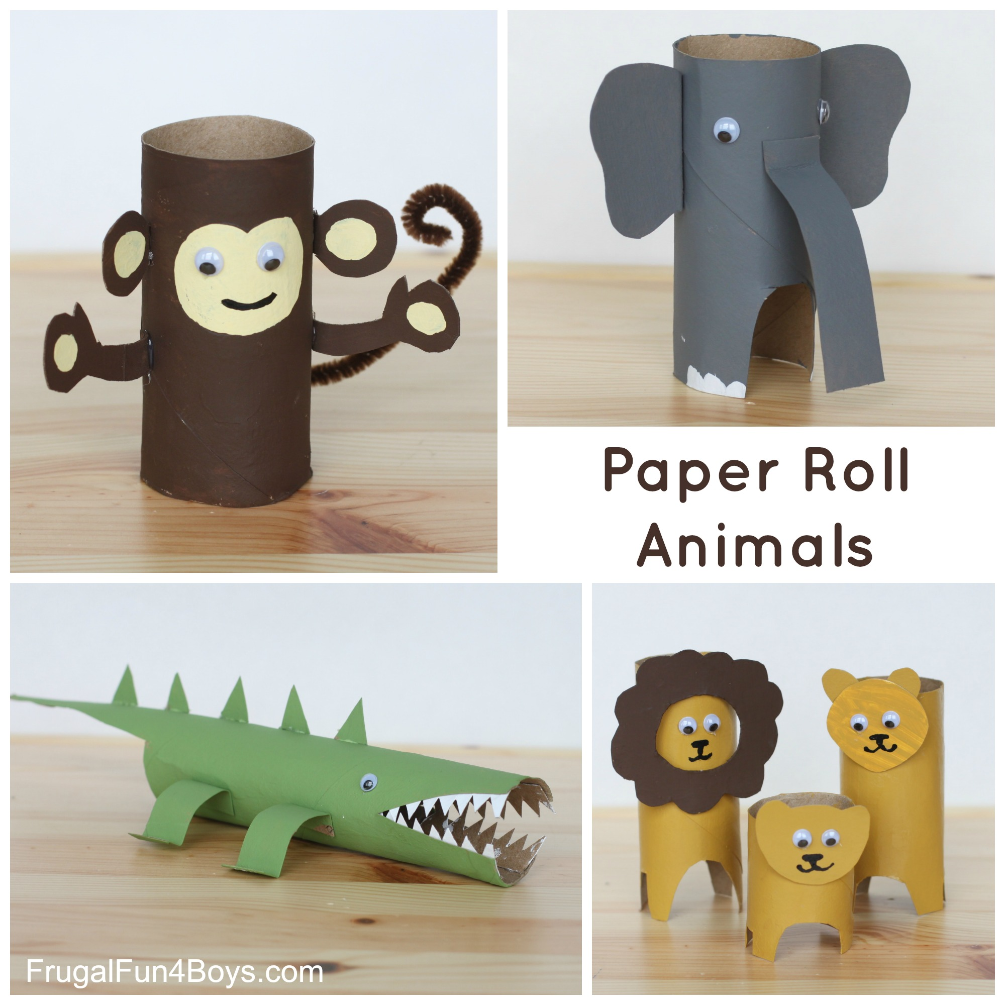 Paper Roll Animals to Make