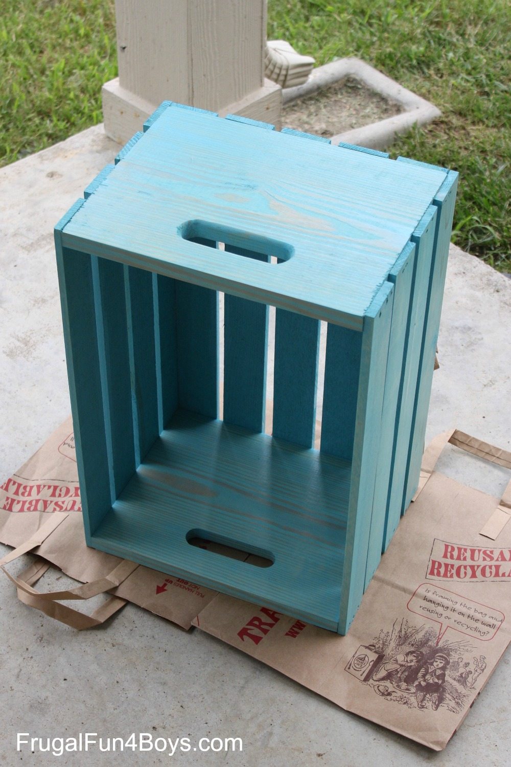 Wooden Crate Storage for Toys or Stuffed Animals