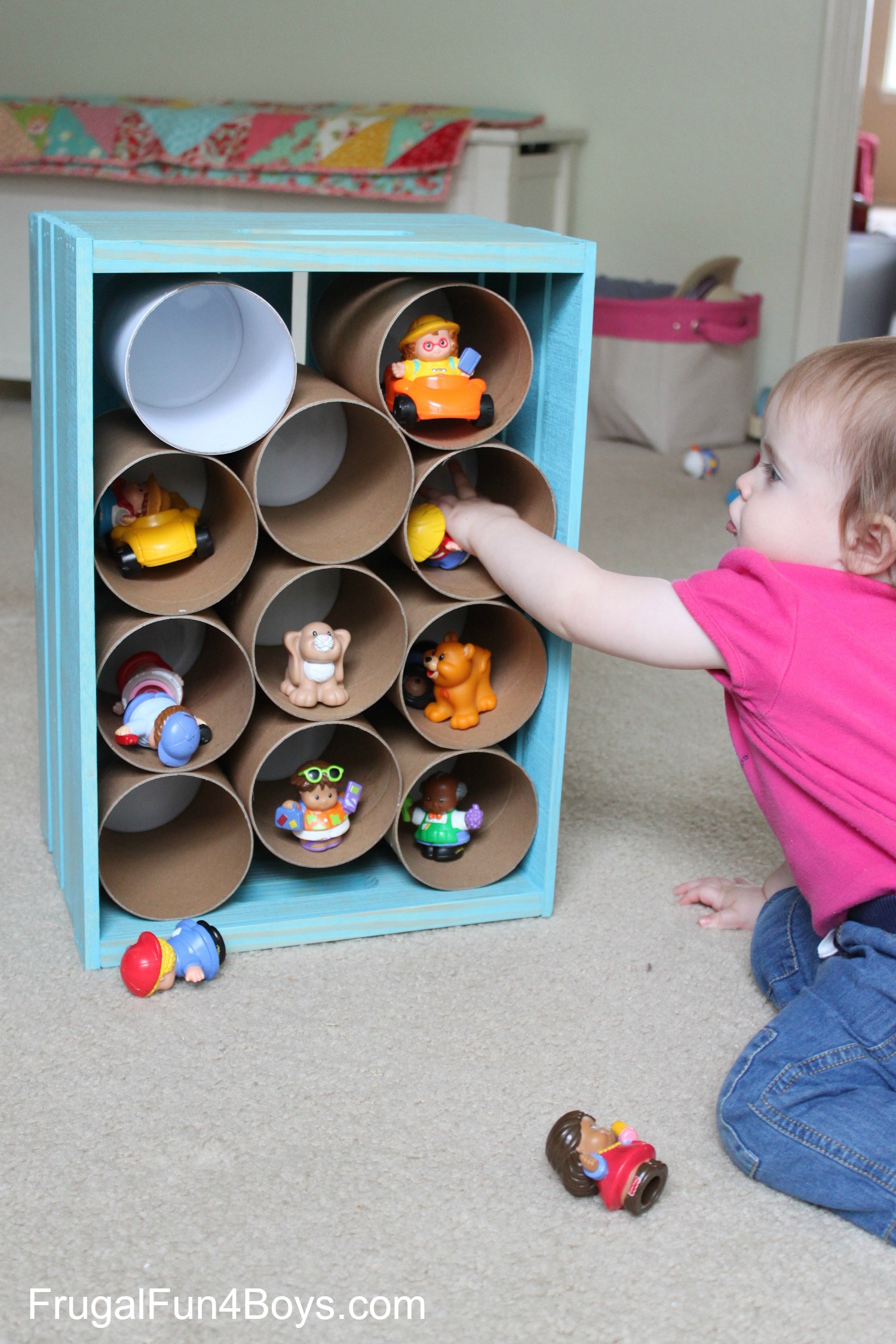 Wooden Crate Storage for Toys and Stuffed Animals