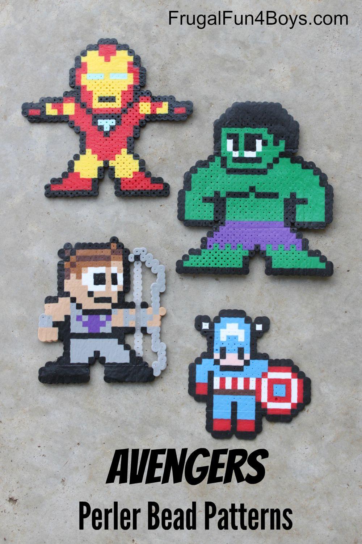 Avengers Perler Beads Pattern