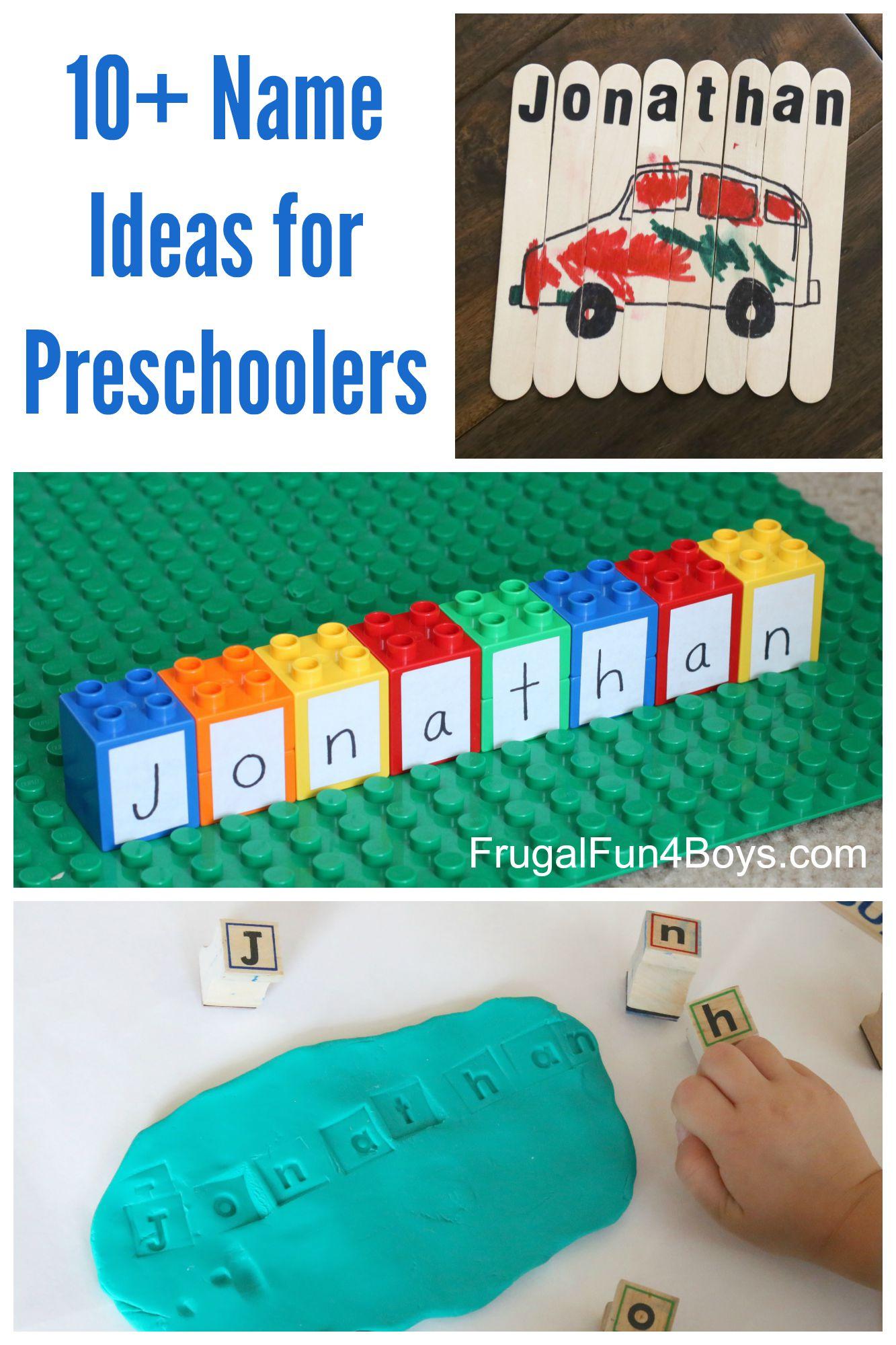 easy activities for preschoolers simple name activities for preschoolers 944