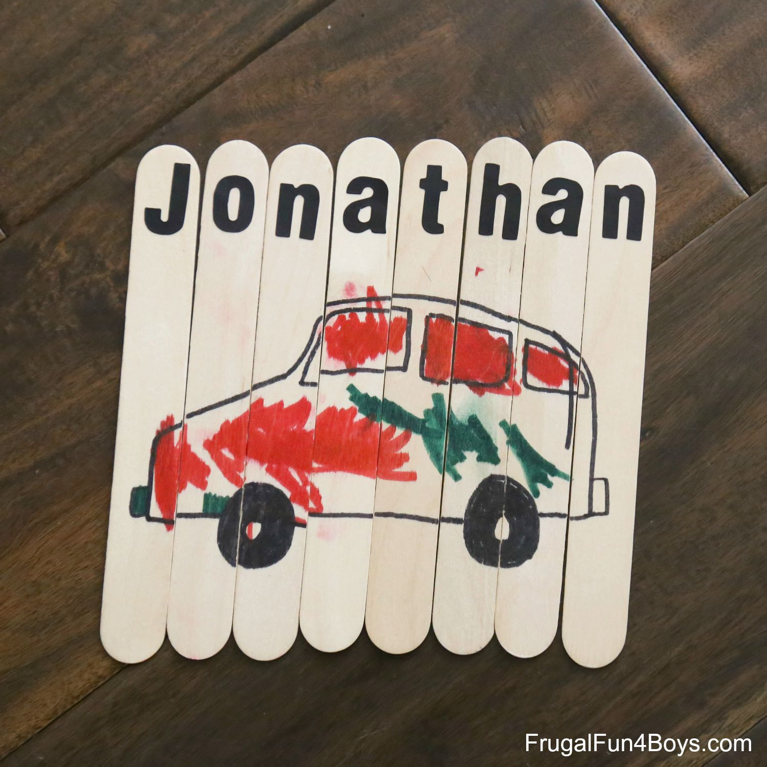 Simple Name Activities For Preschoolers - Car signs and namesideas name of car on wwwpeculiarpurlscom