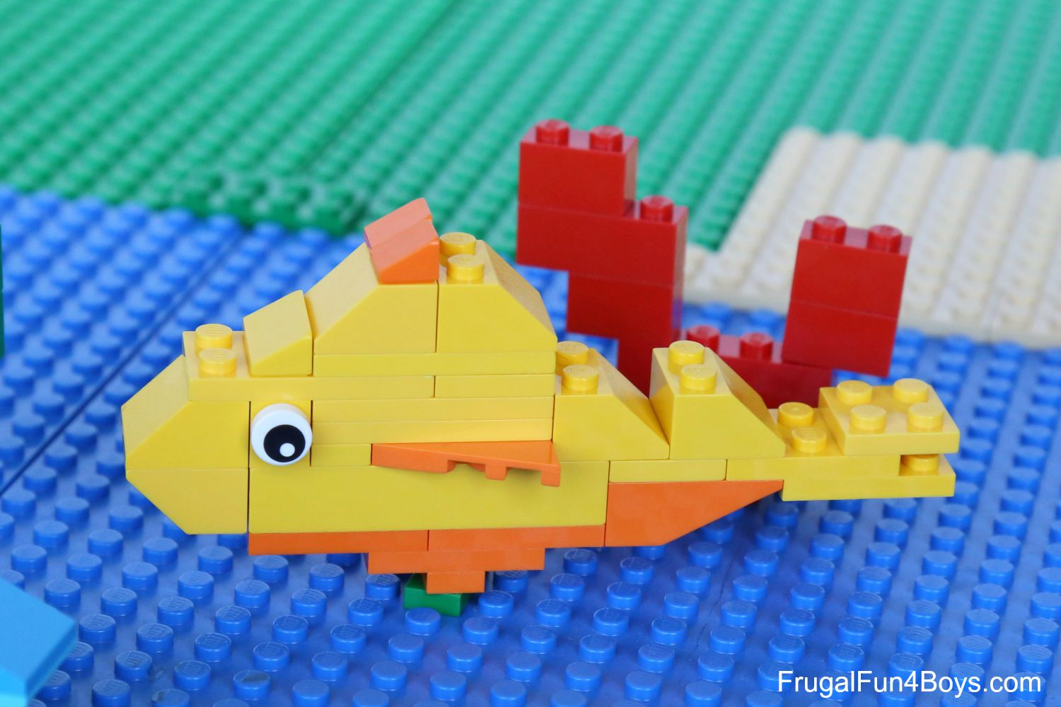 Ocean lego projects to build sea turtle crab otter and for Easy fishing sponsors