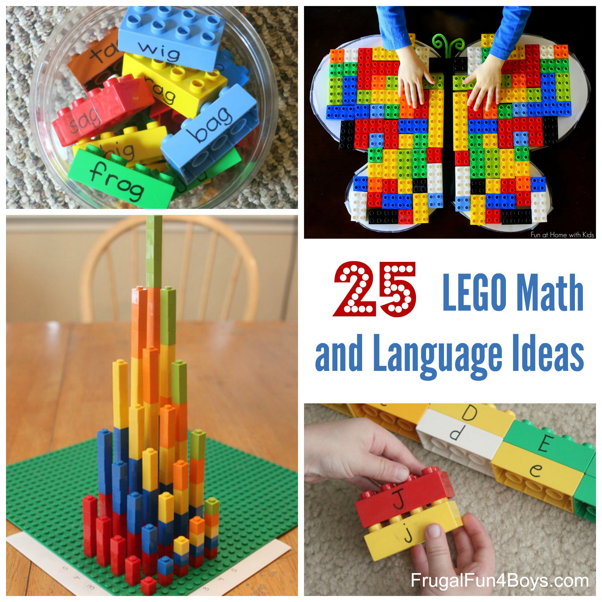 25+ LEGO Math and Language Learning Ideas