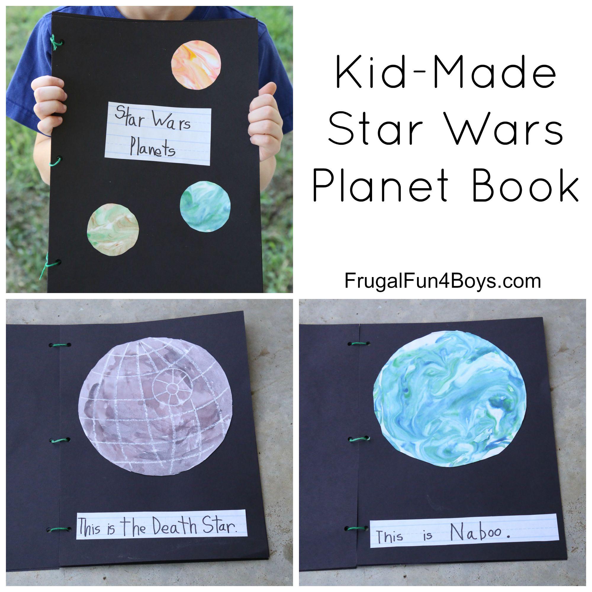 Kid-Made Star Wars Planet Book