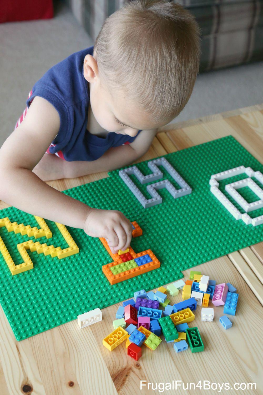 LEGO Letter Puzzles