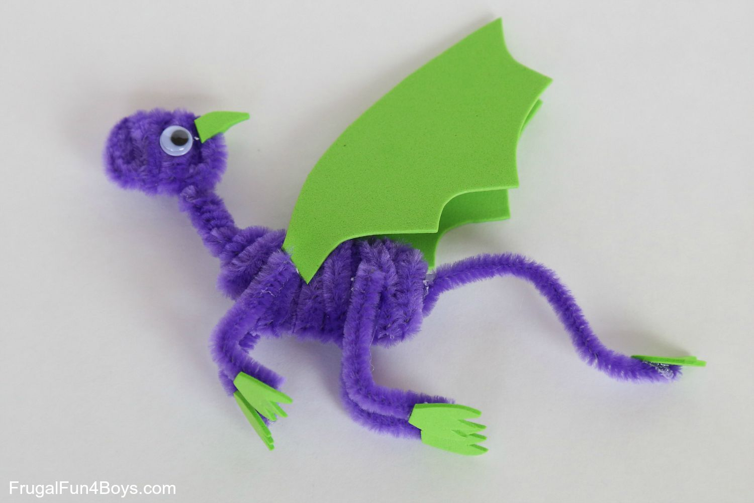 Pipe Cleaner Dragons Craft For Kids Frugal Fun For Boys And Girls