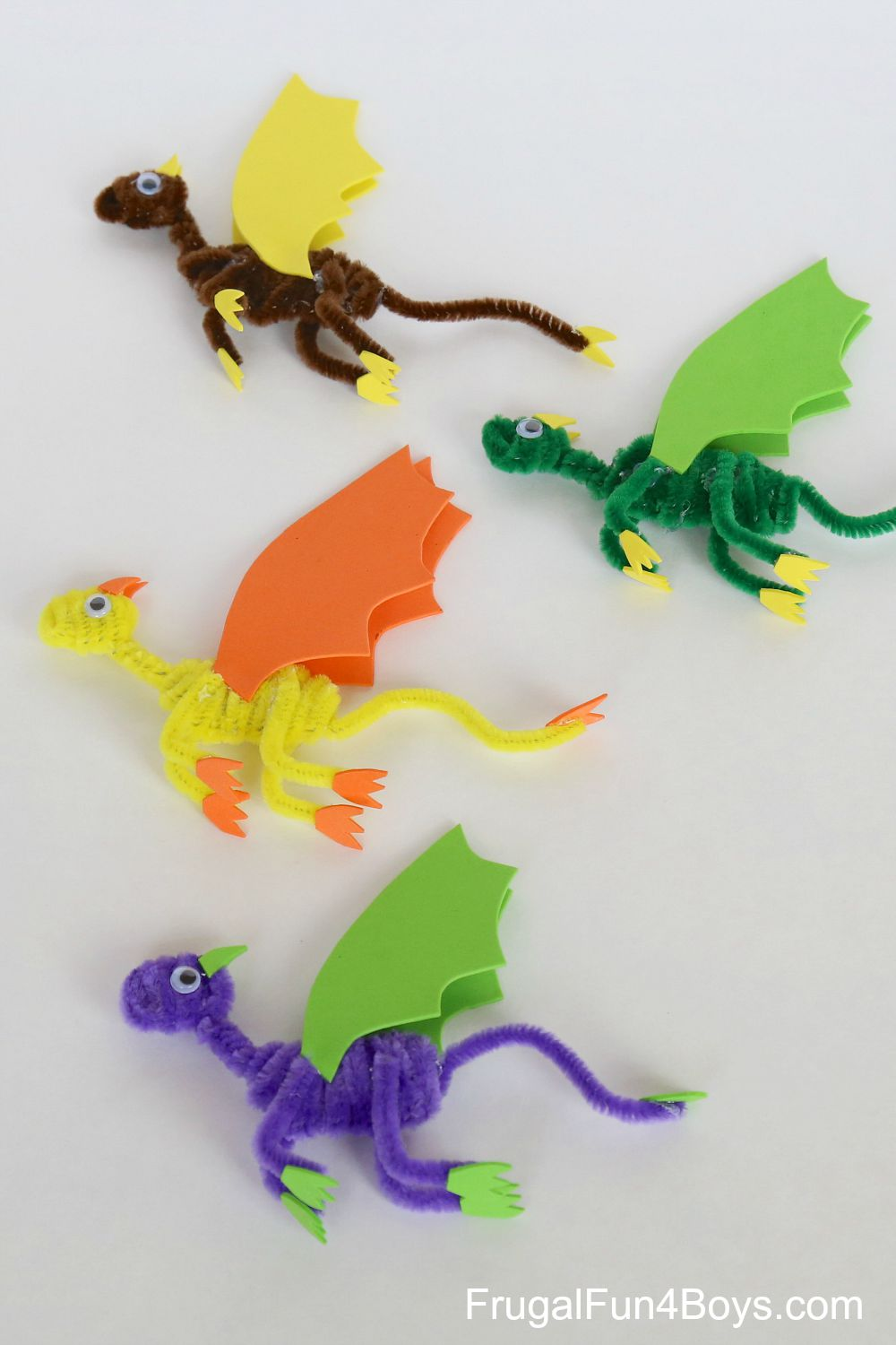 dragon craft ideas pipe cleaner dragons craft for 1897