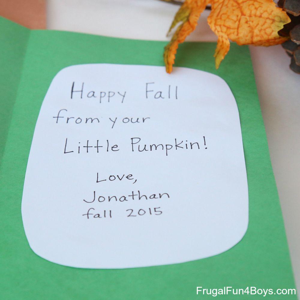 Little Pumpkin Fall Handprint Card - Keepsake Idea!