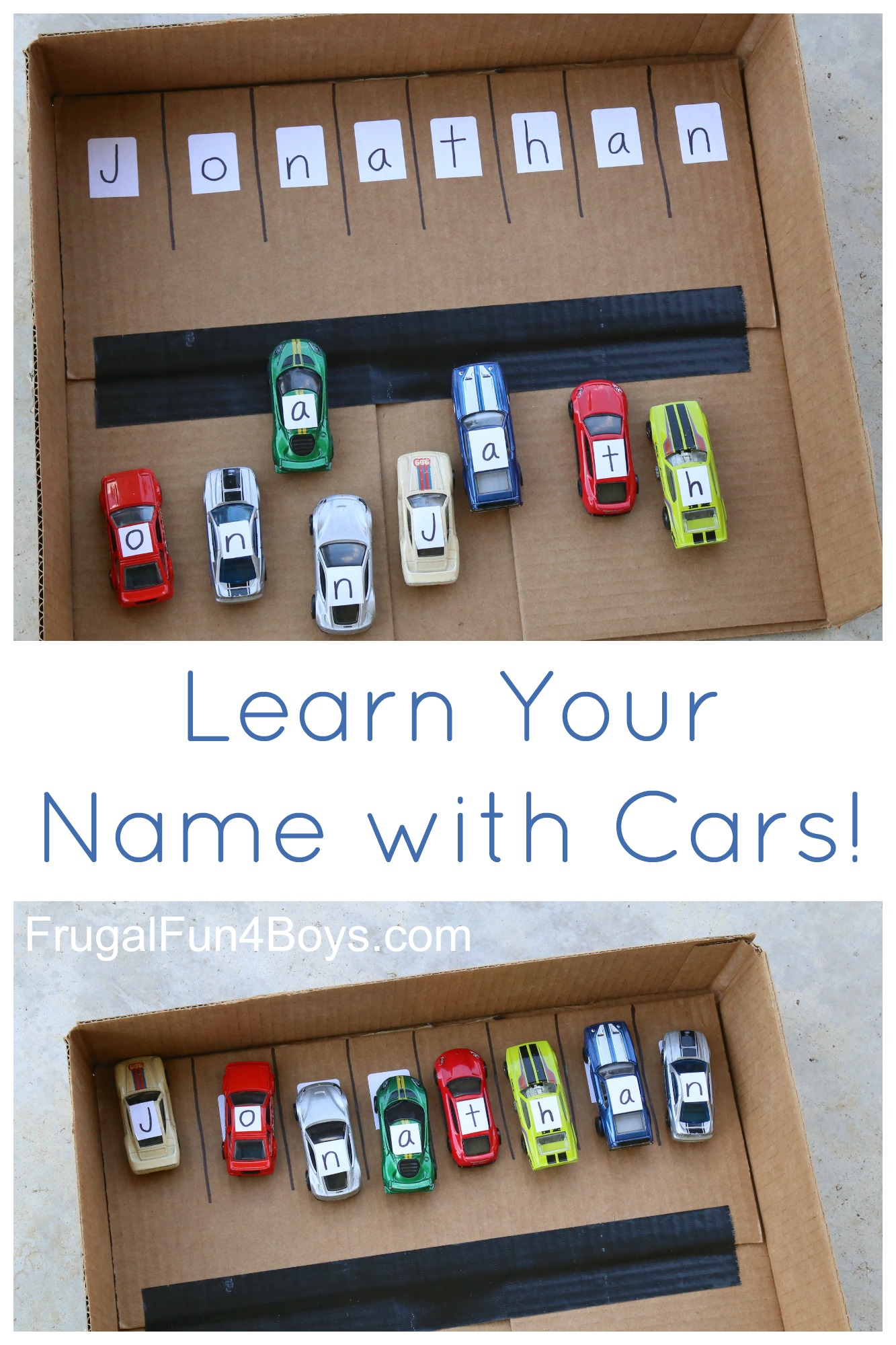 Learn Your Name with Cars!