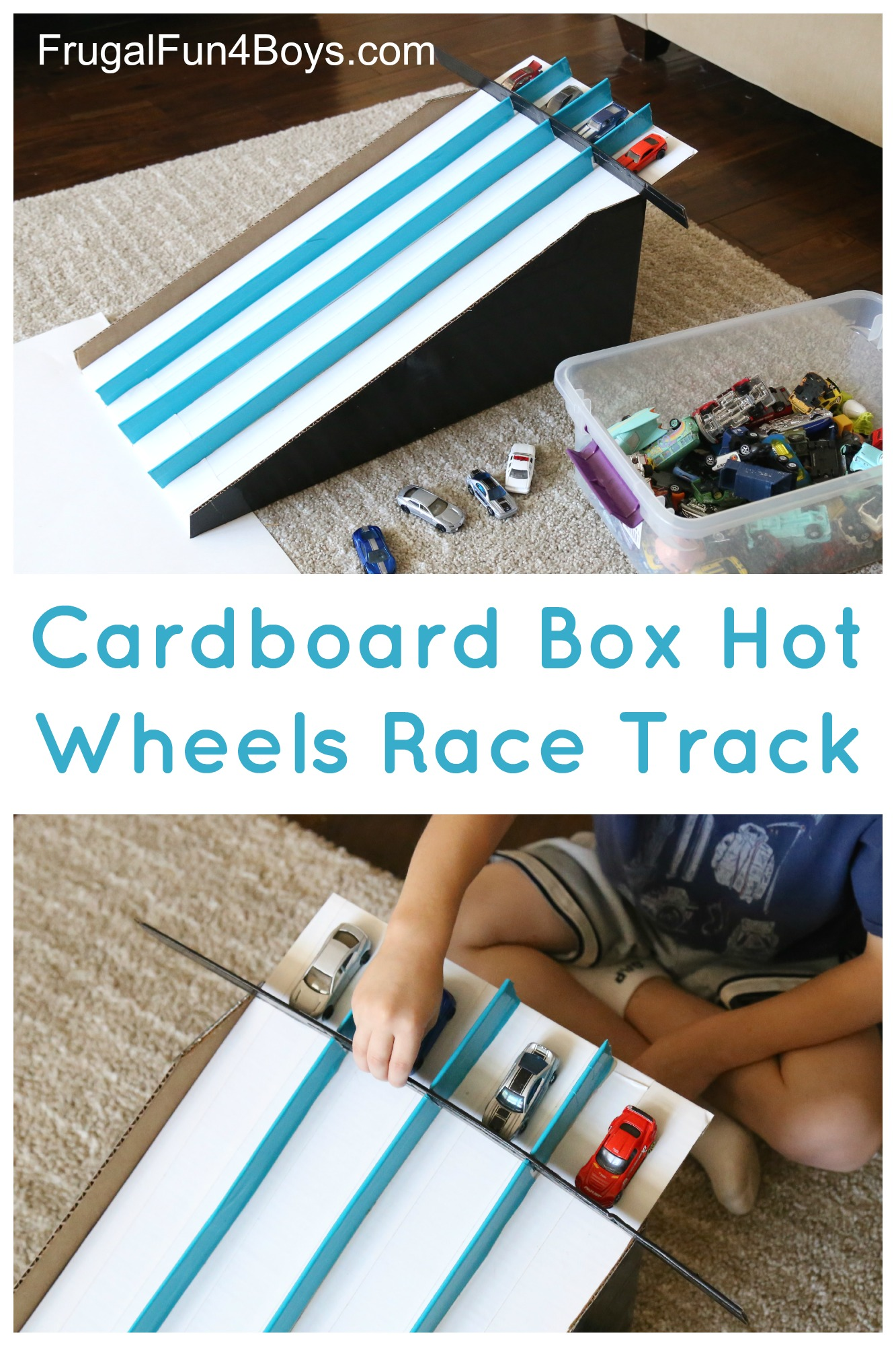 How To Make A Cardboard Box Race Track For Hot Wheels Cars Frugal