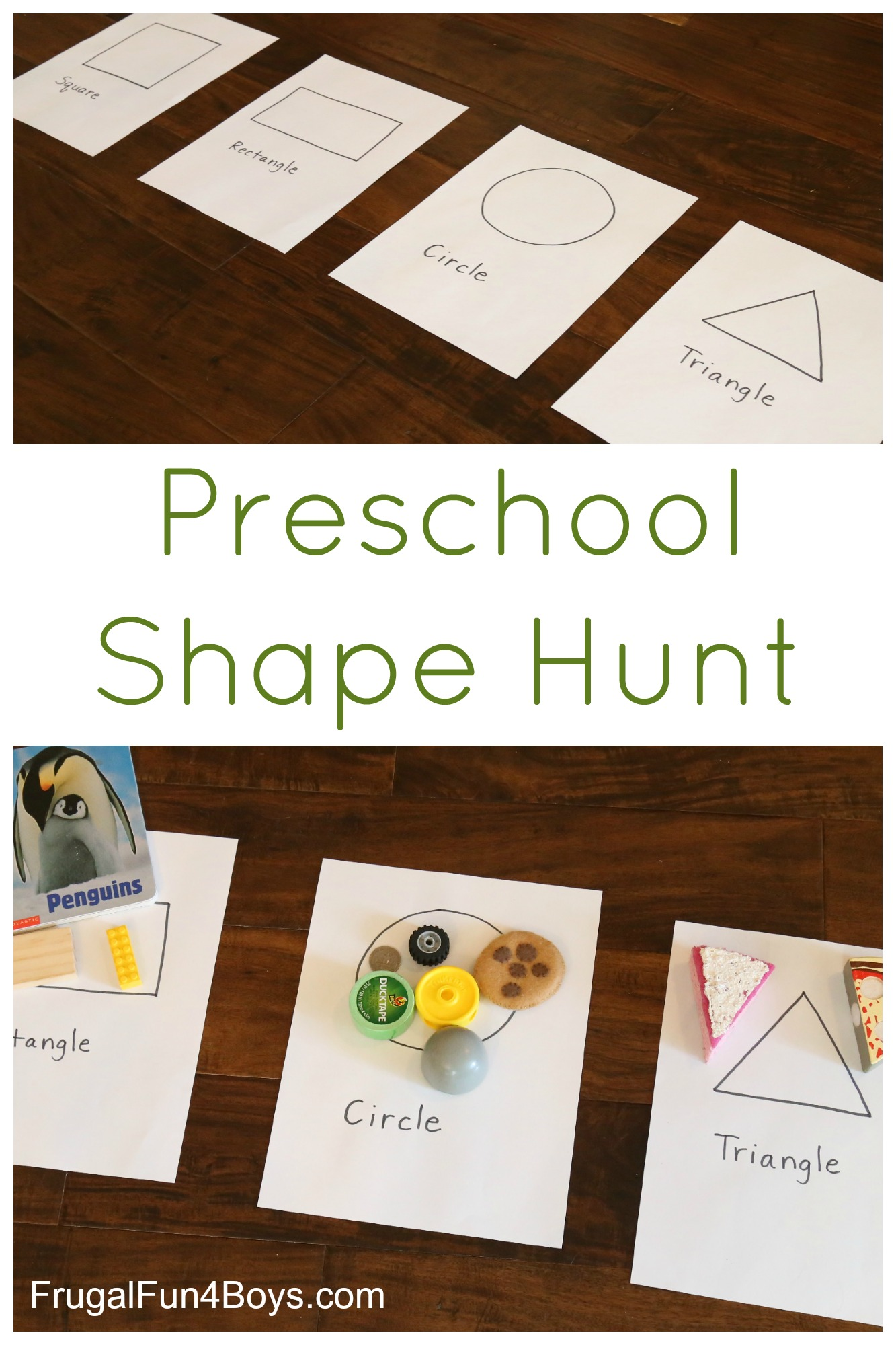 Preschool Shape Scavenger Hunt