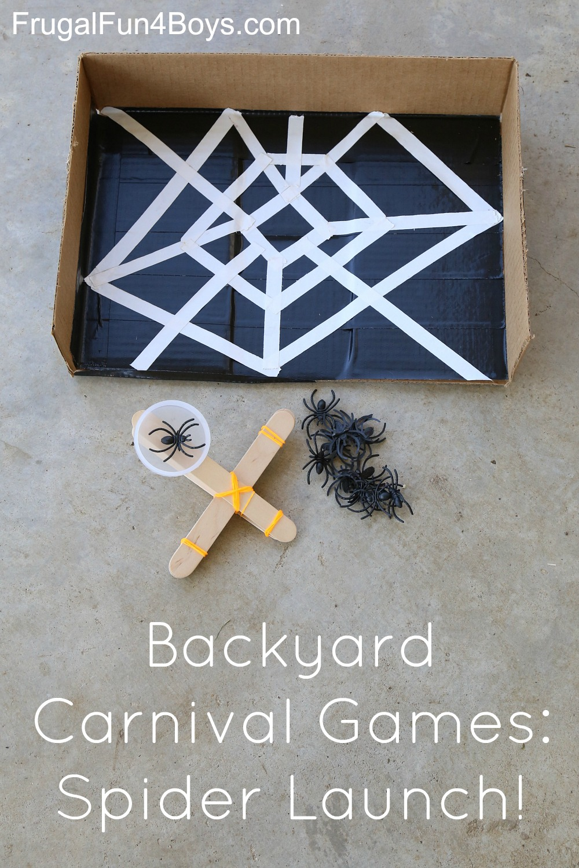 Backyard Carnival Games:  Spider Launch