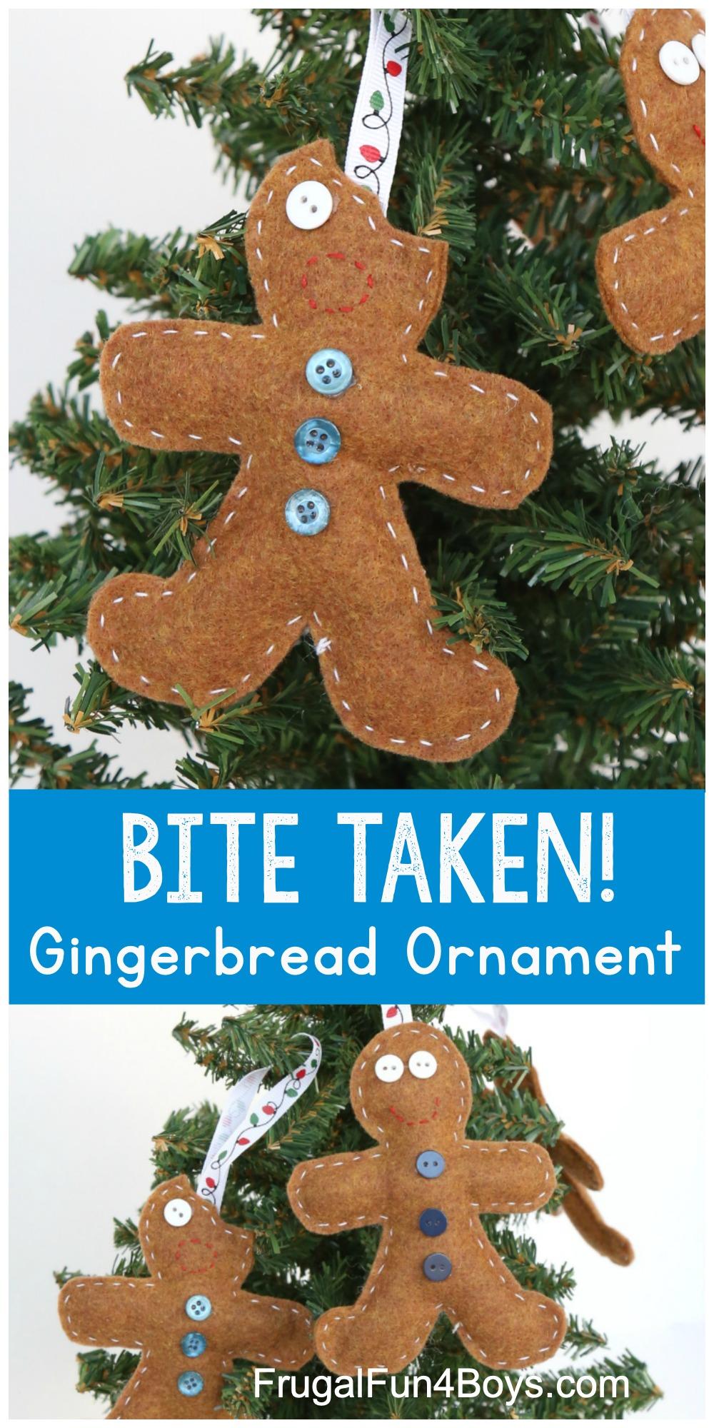 Felt Gingerbread Men Ornaments for Kids to Make