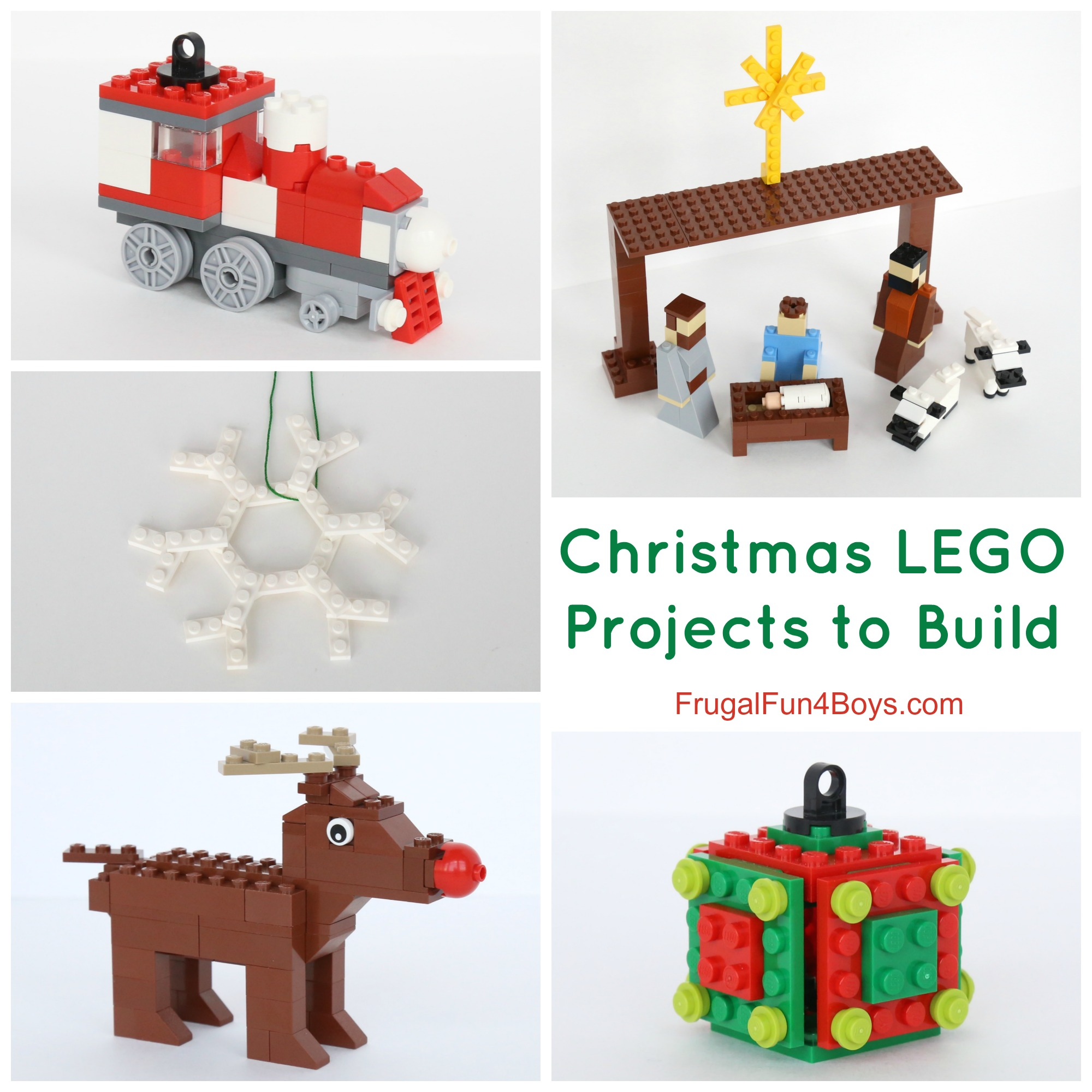 Five Christmas LEGO Projects to Build with Instructions