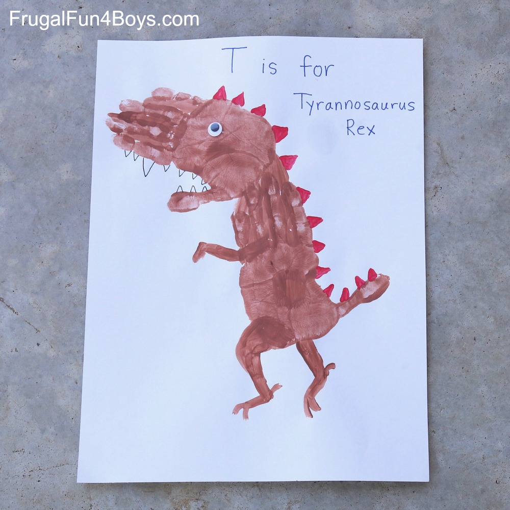 Handprint Dinosaurs to Make