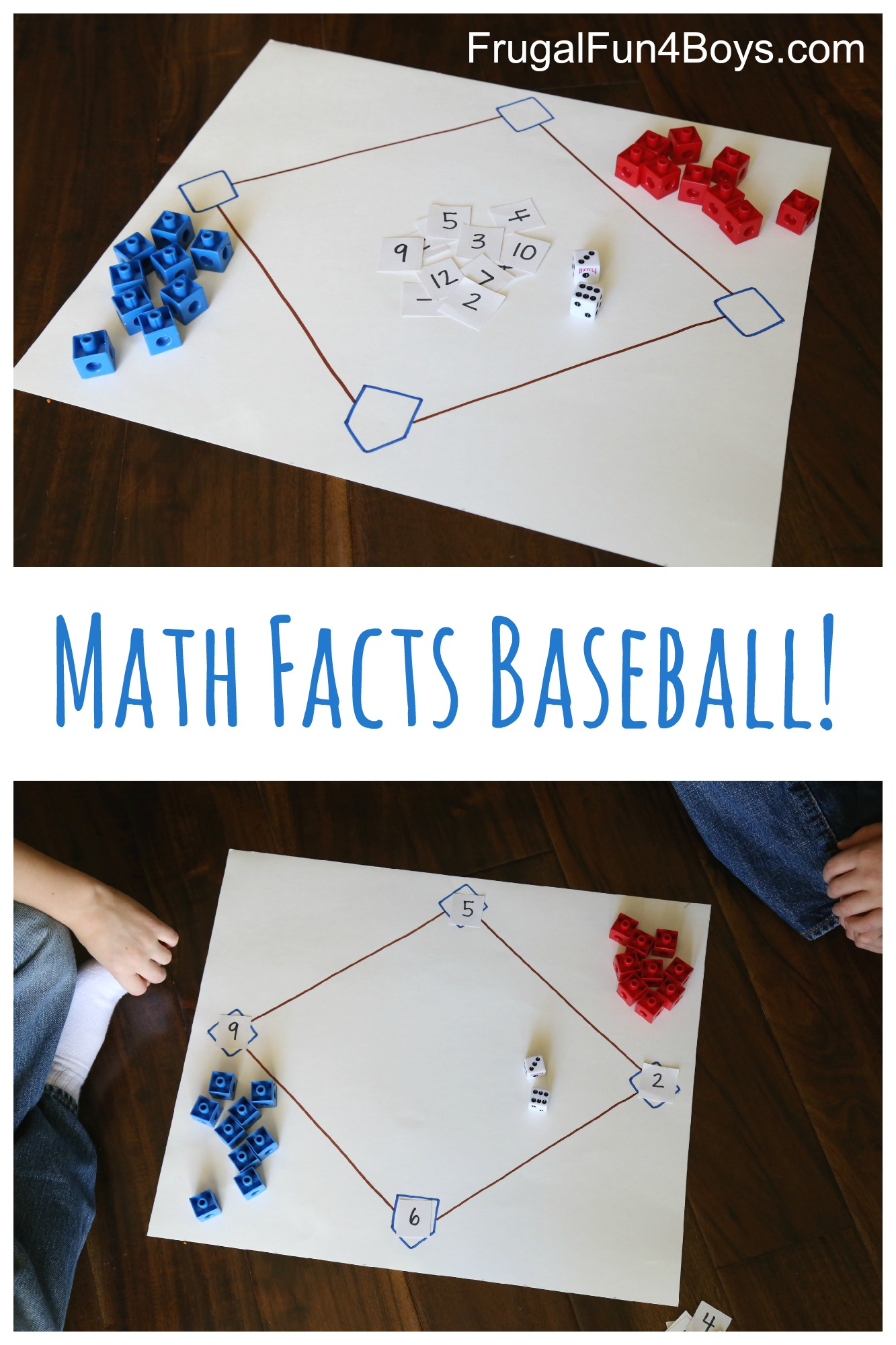 Math Facts Baseball An Awesome Way To Practice Math Frugal Fun
