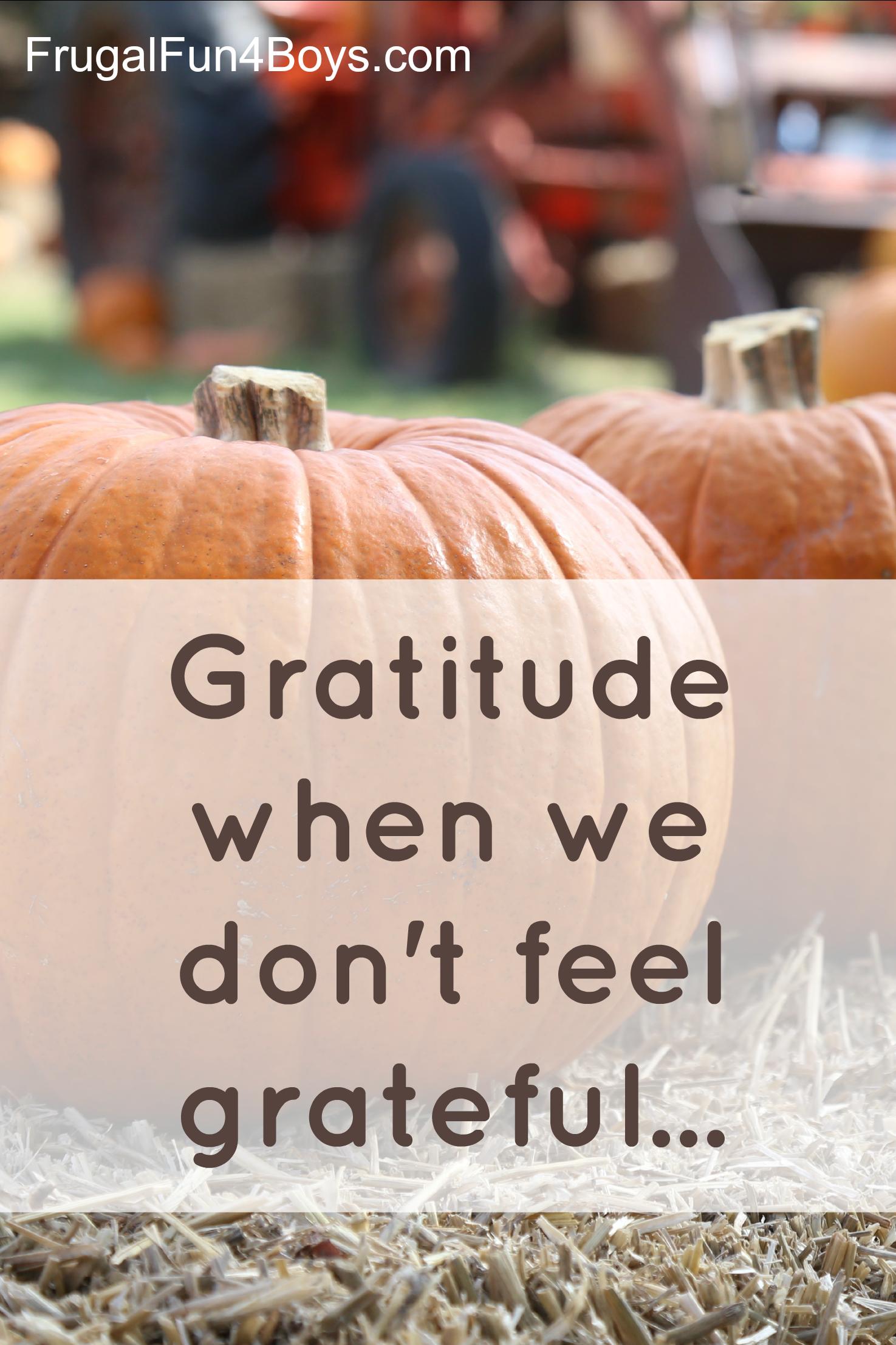 Gratitude when we don't feel grateful...