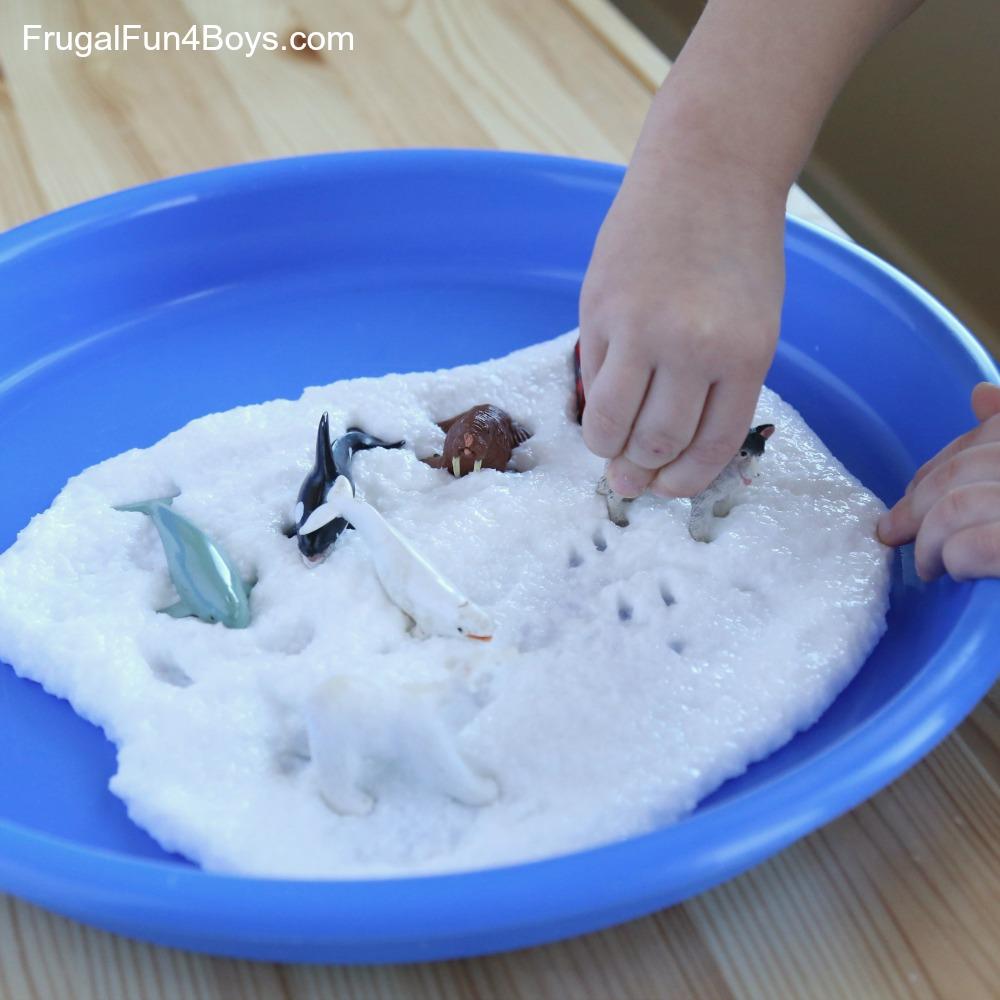 How to Make Snow Slime