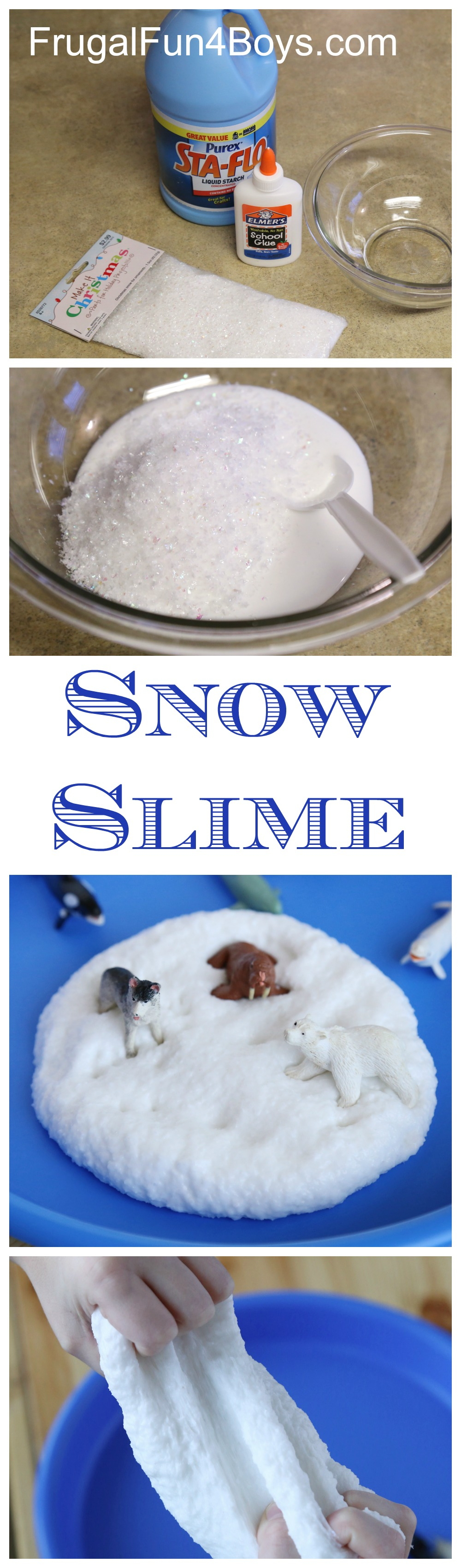 How To Make Snow Slime Frugal Fun For Boys And Girls