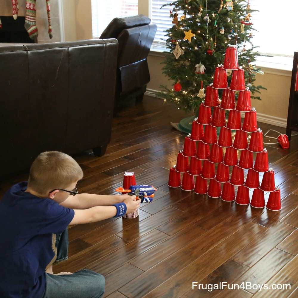 Christmas Party Game For Kids: Jingle Bell Nerf Games