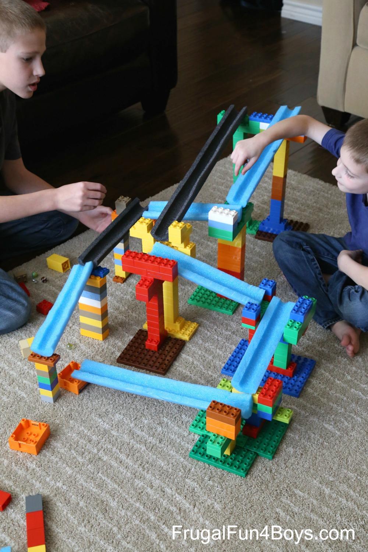 Build a Duplo LEGO Marble Run
