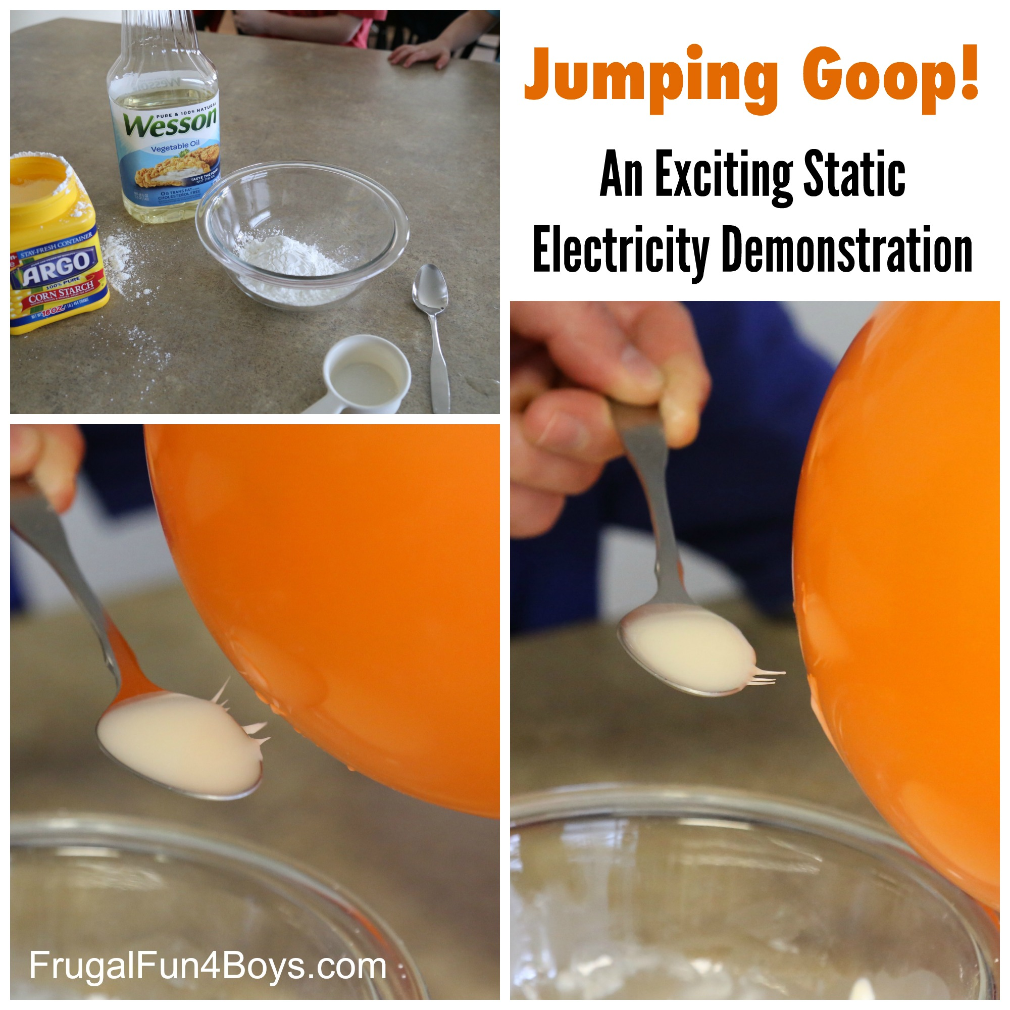 Jumping Goop! A simple static electricity demonstration for kids!