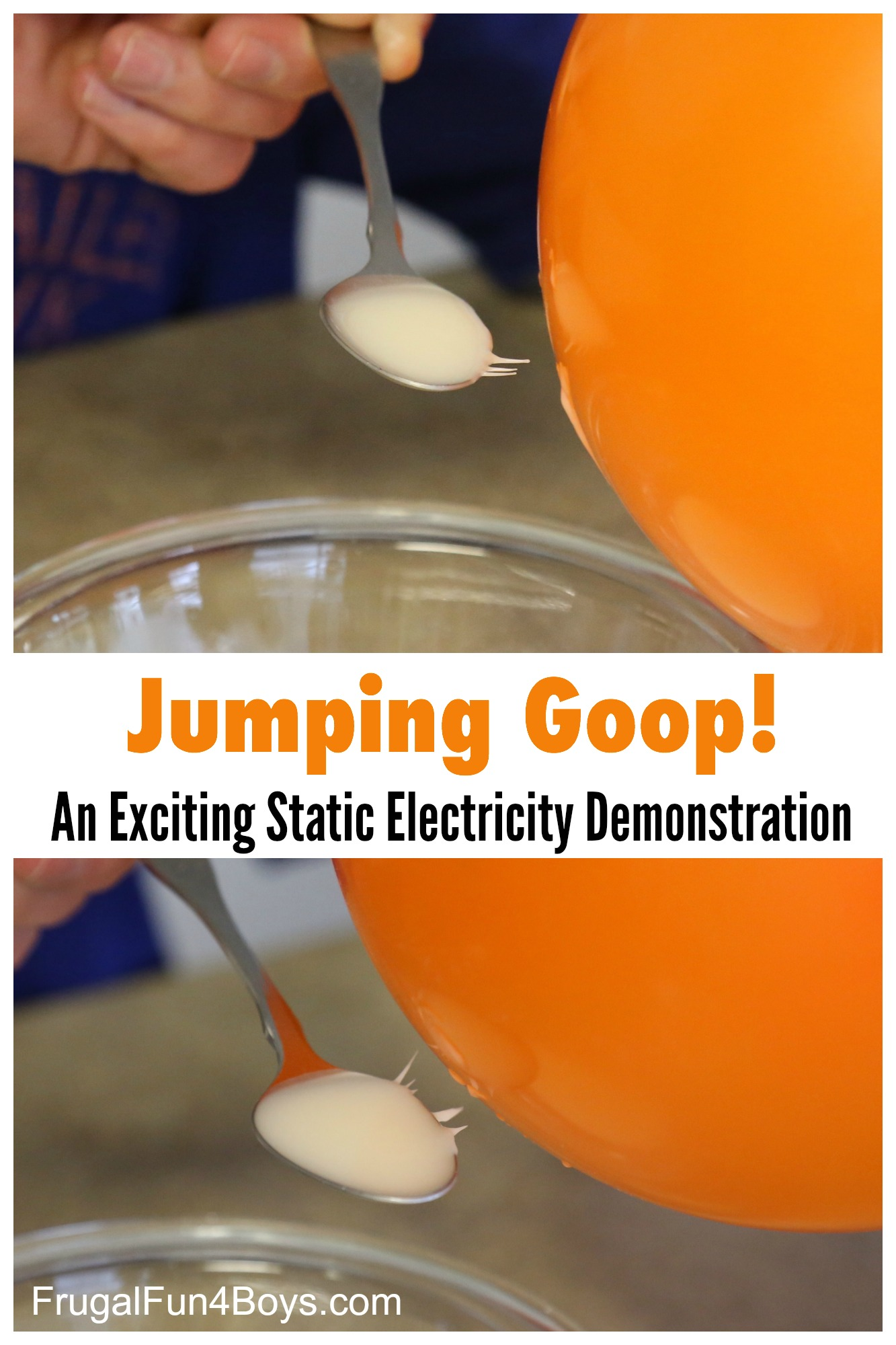 Jumping Goop! An exciting static electricity demonstration for kids!