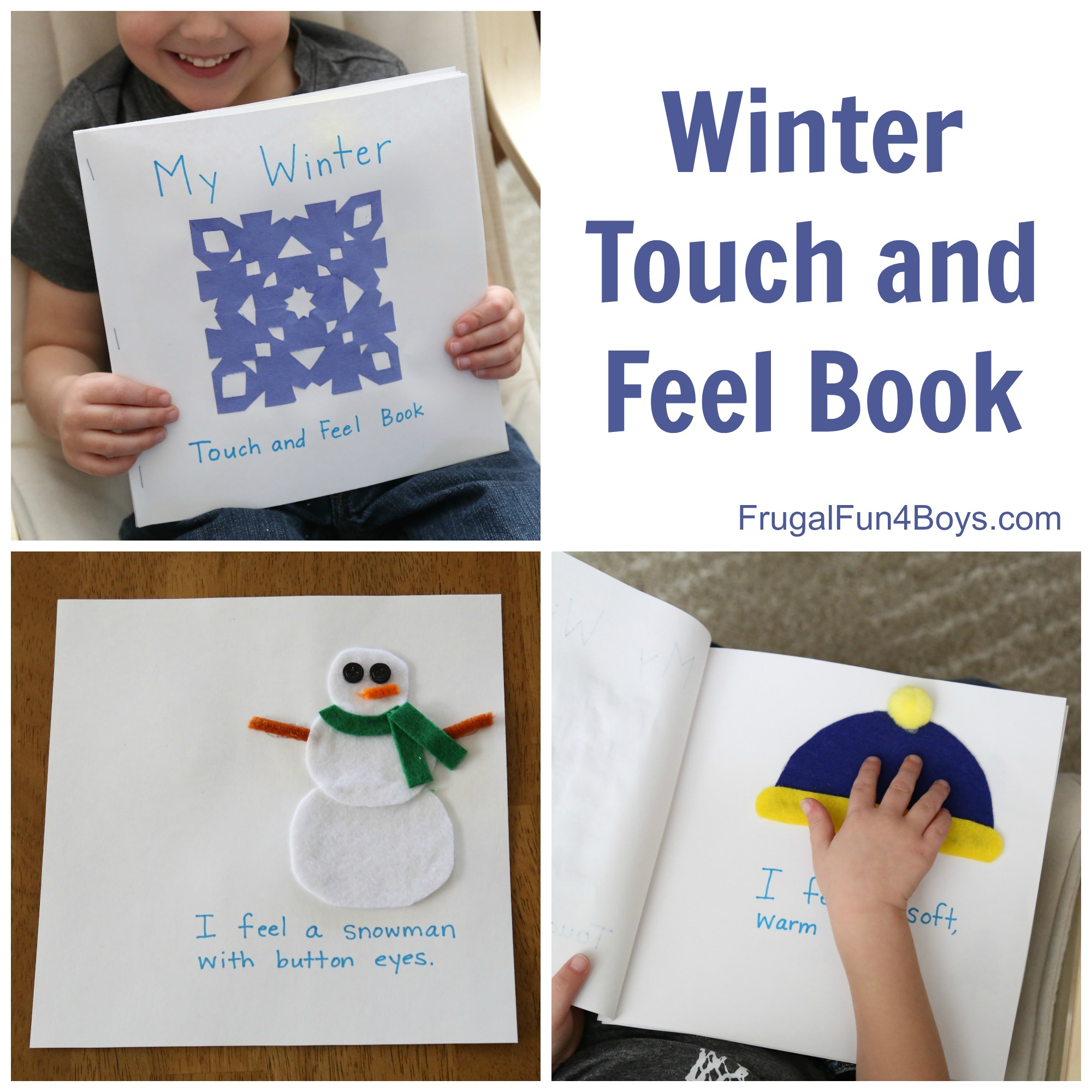 Make a Winter Touch and Feel Book that Toddlers and Preschoolers will Love!