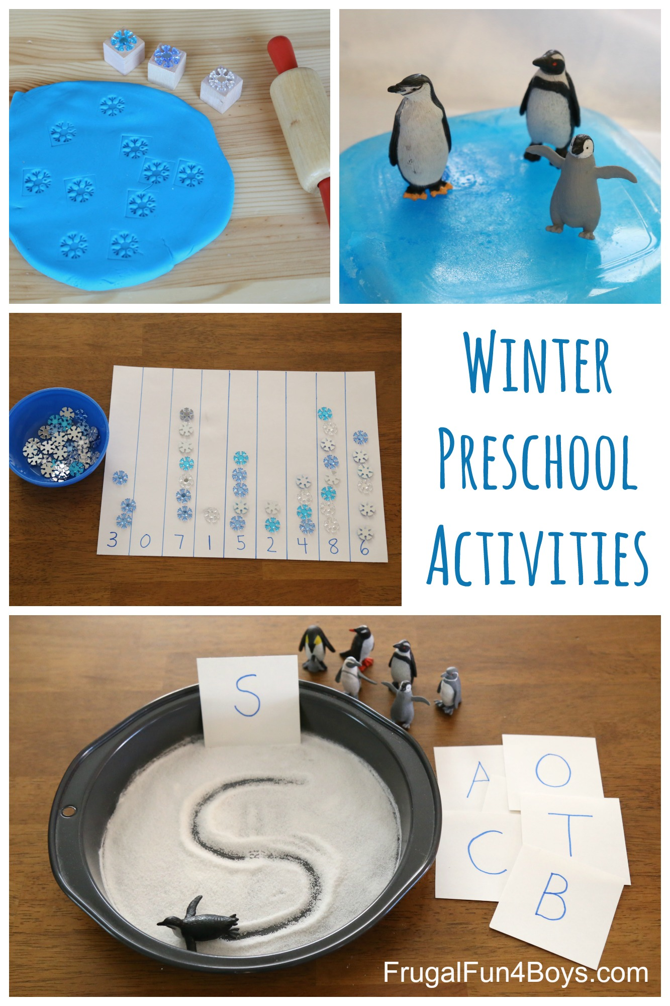 Winter learning activities for preschool for Motor activities for preschoolers