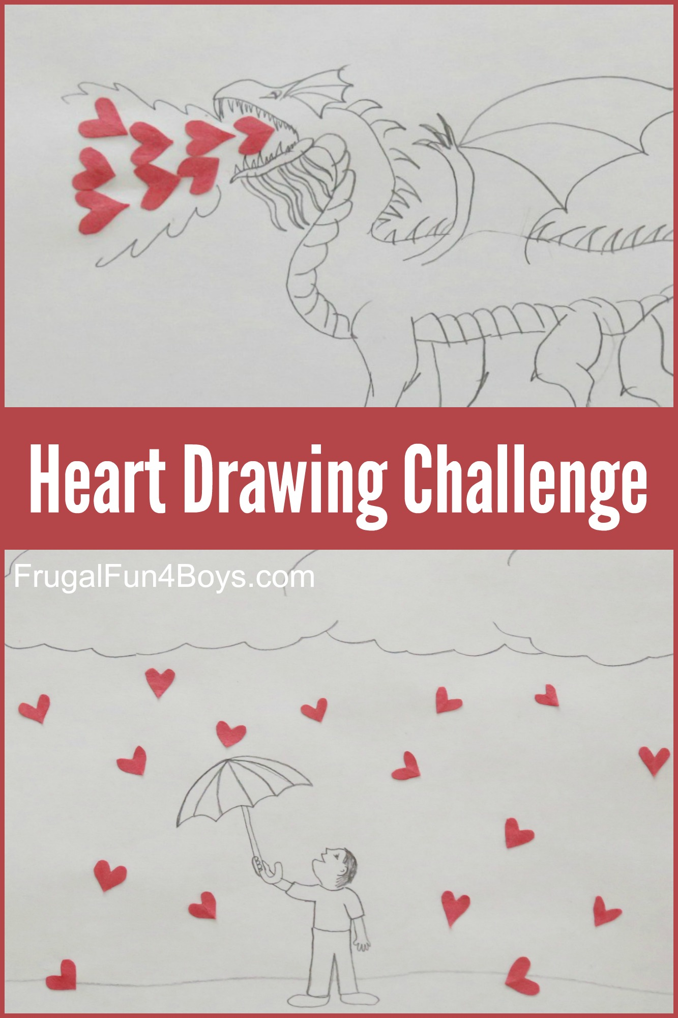 Hearts in Unusual Places - A Drawing Challenge for Kids!