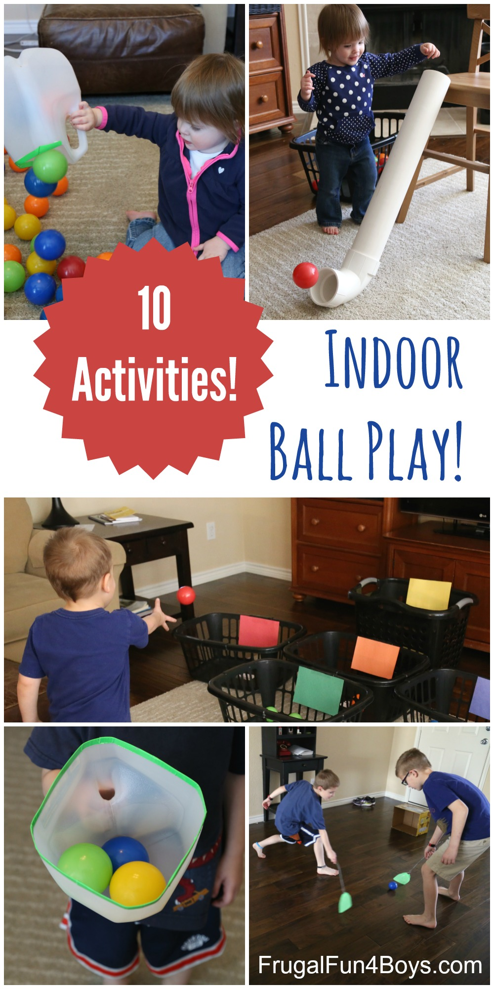 10 Ball Games for Kids - Ideas for Active Play Indoors! - Frugal ...