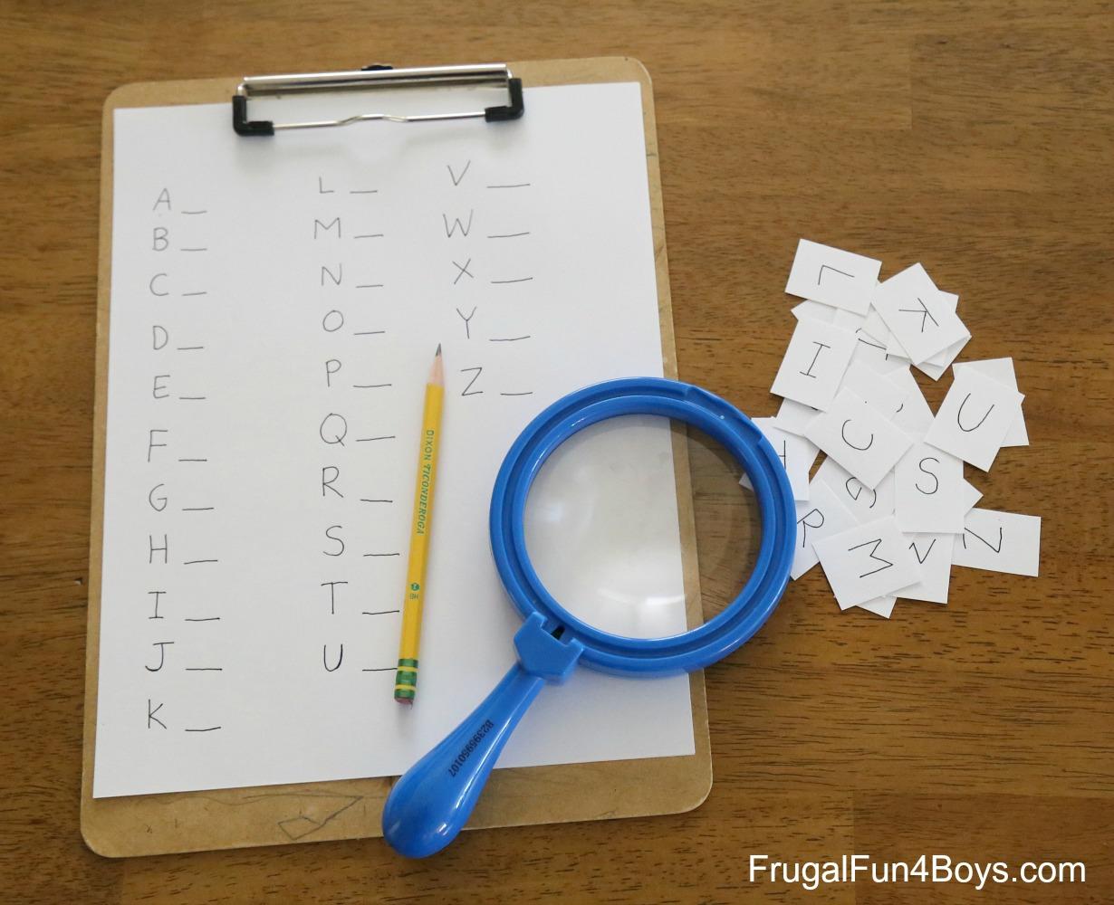 Go on a Detective Alphabet Hunt!