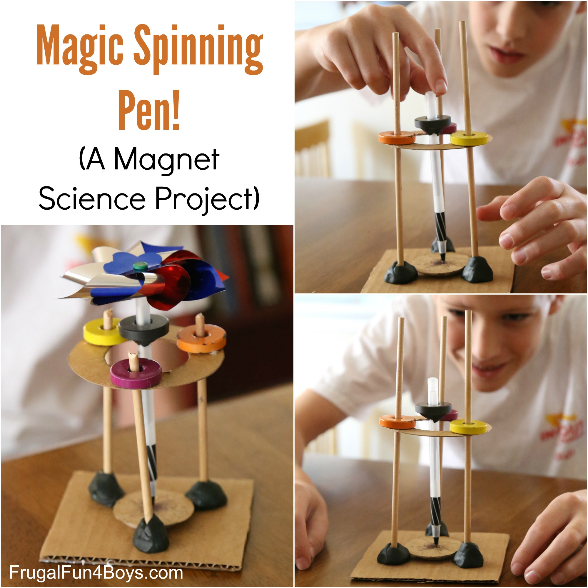Magic Spinning Pen! A Magnet Science Experiment for Kids
