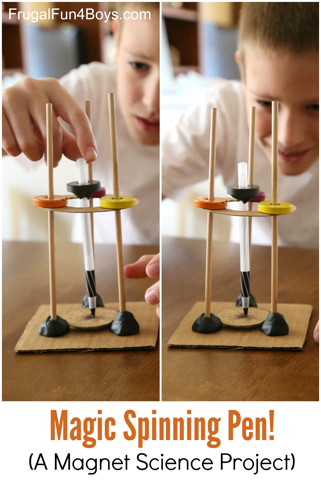Magic Spinning Pen - A Magnet Science Experiment for Kids!