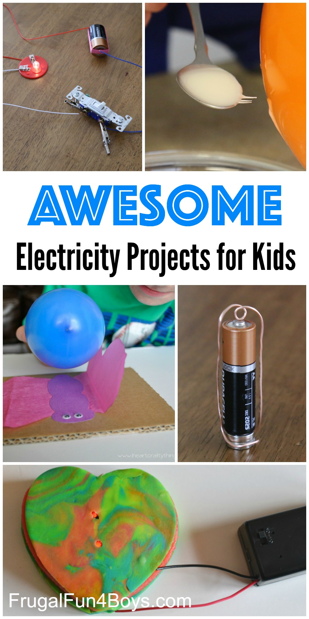 Awesome Electricity Projects for Kids! Science experiments ...