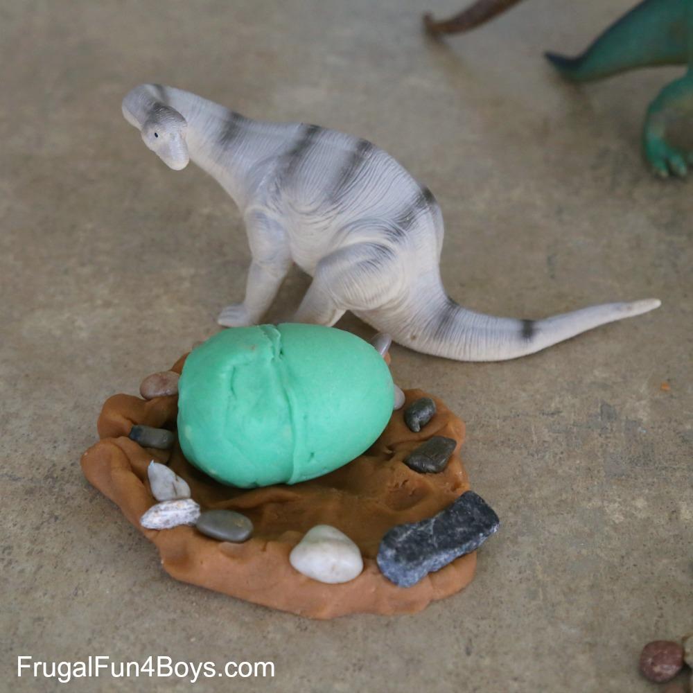 Dinosaur Egg Play Dough Factory
