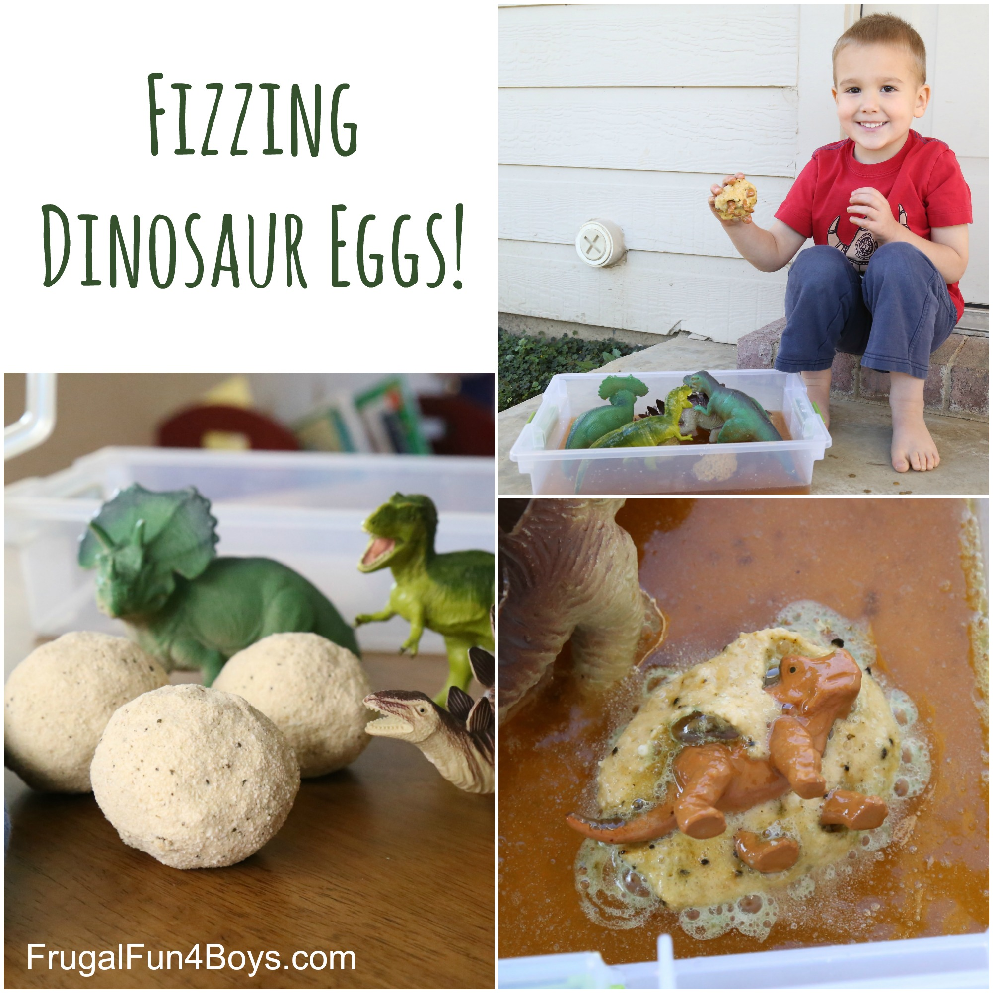 Fizzing Hatching Dinosaur Eggs - Sensory Play with Bath Bombs!