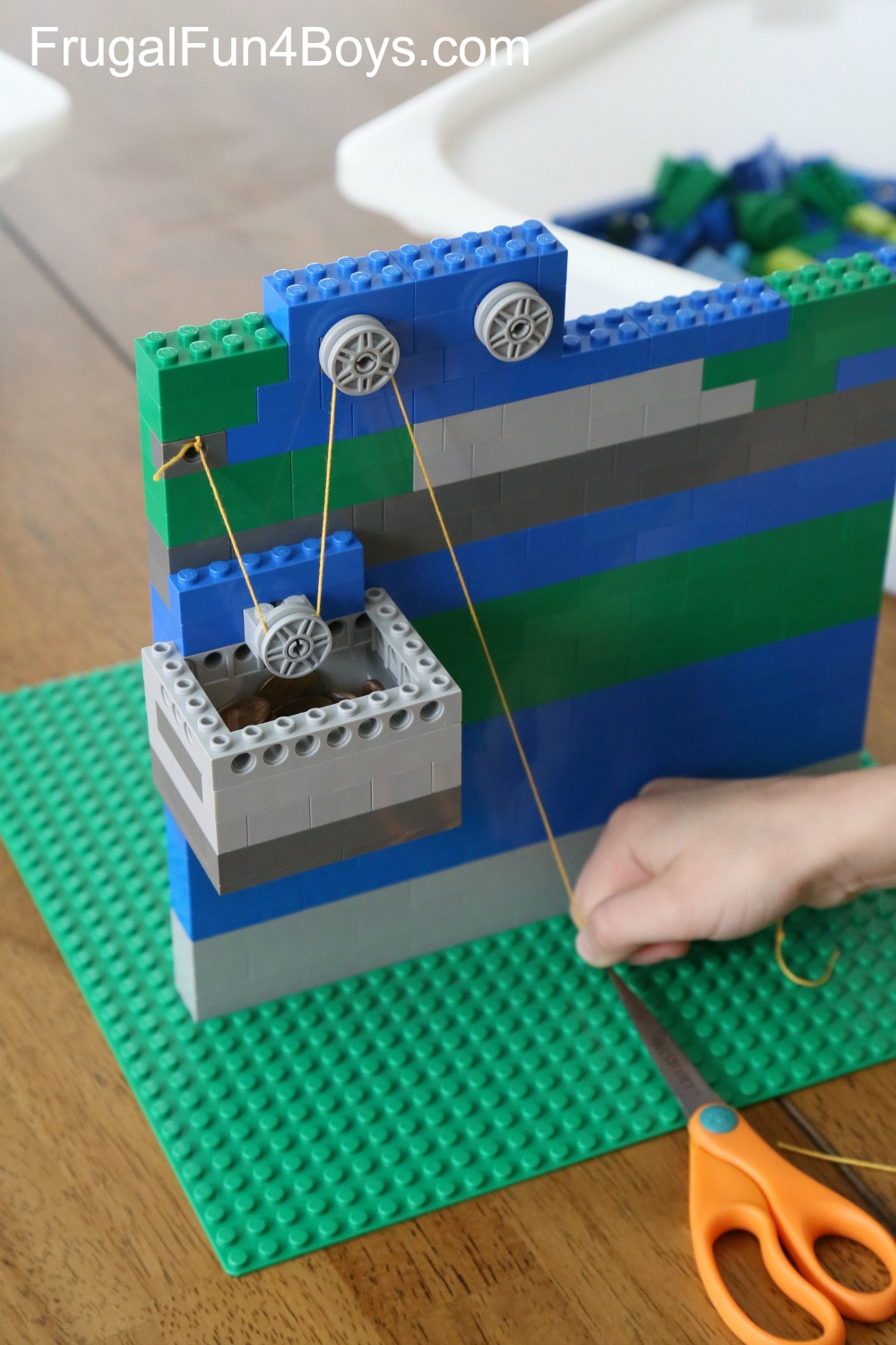 LEGO Pulleys Engineering Building Challenge for Kids