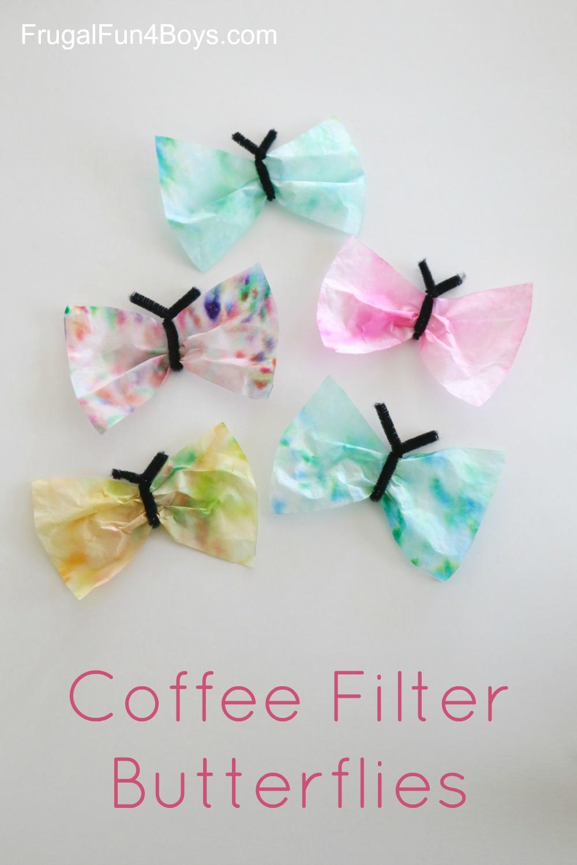 Coffee Filter Butterflies Spring Craft for Kids