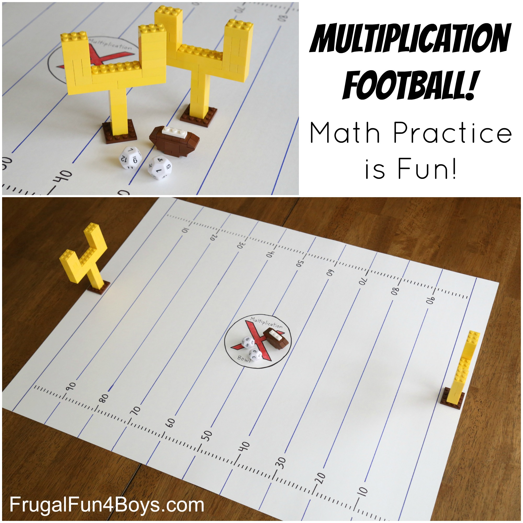 Multiplication Football Math Game for Kids!