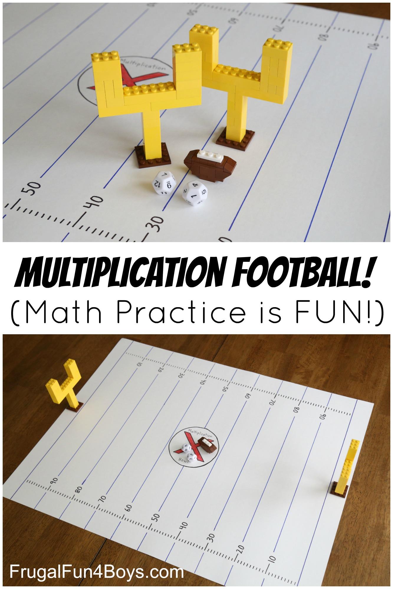 Multiplication Football Game: Make Math Fact Practice Fun! - Frugal ...