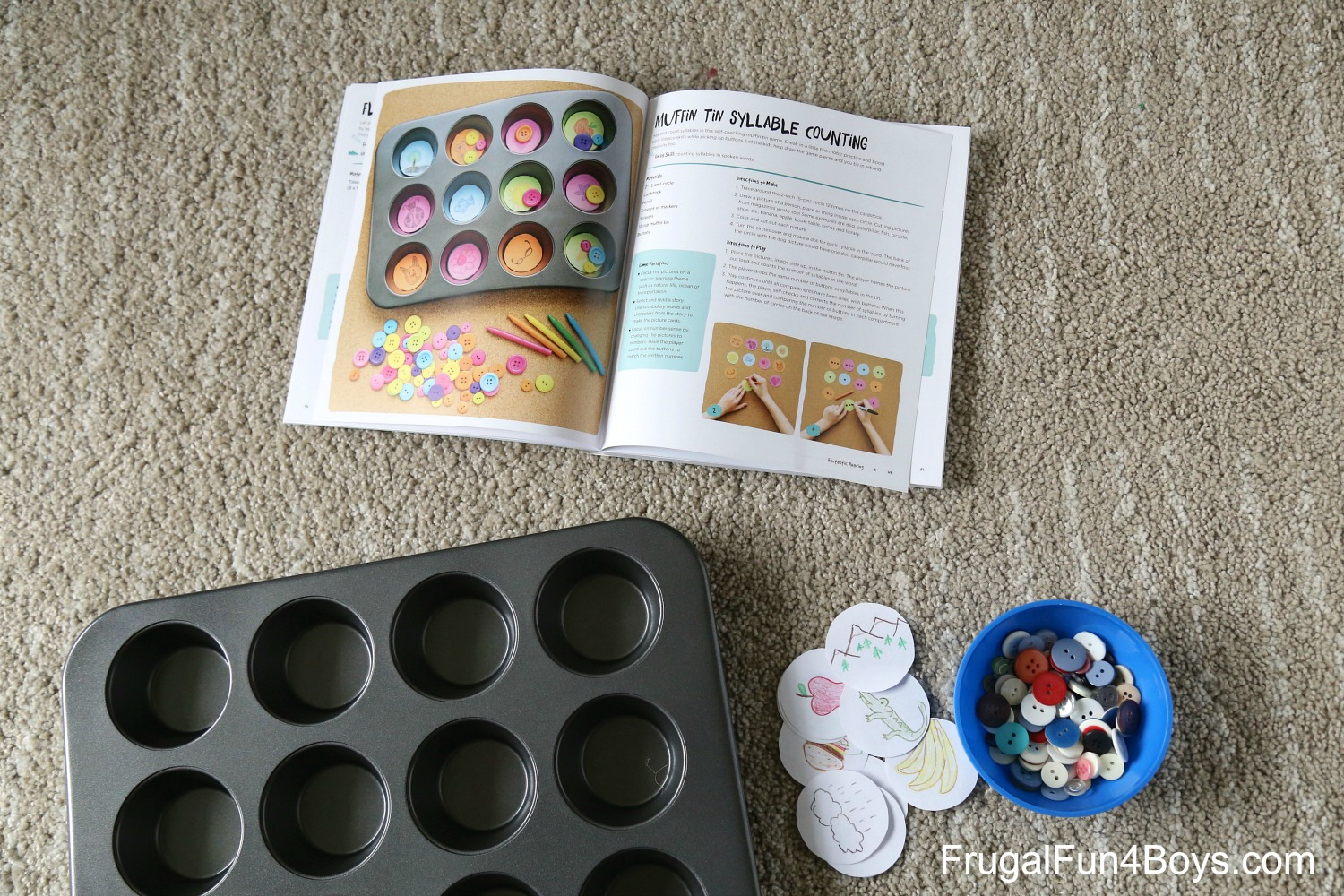 Muffin Tin Syllable Counting Game