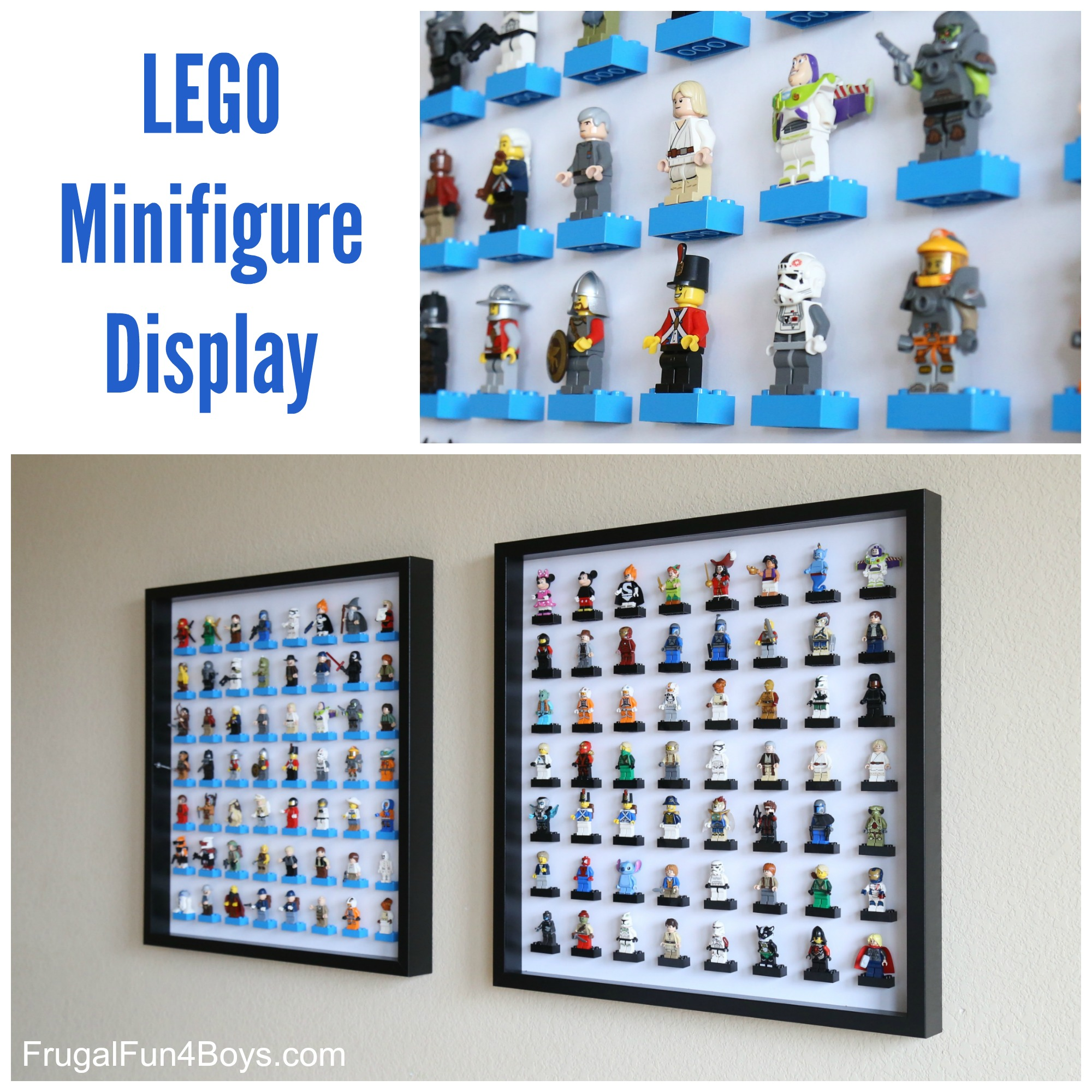 LEGO Minifigure Display and Storage with IKEA Frames